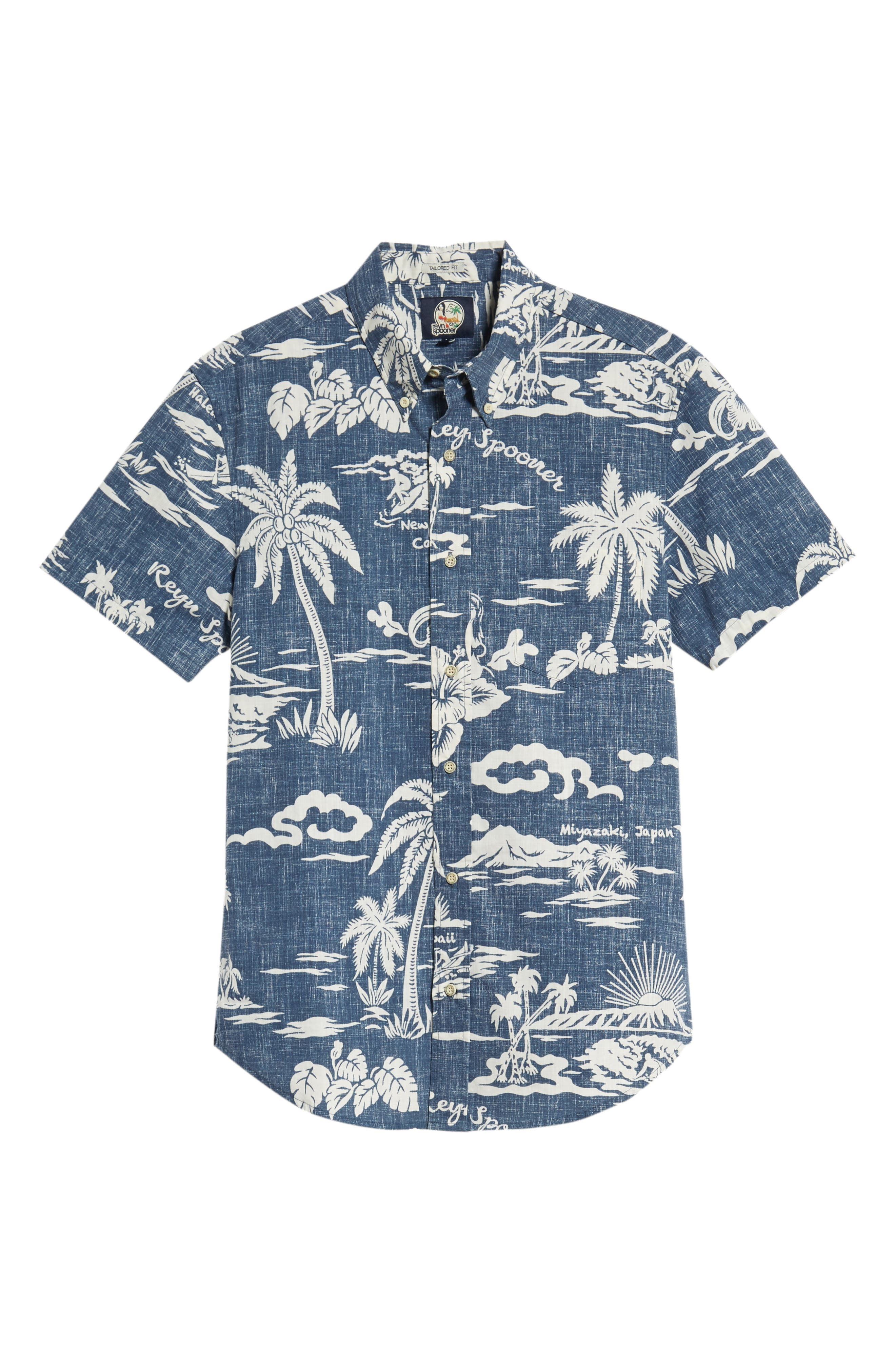 My Private Isle Regular Fit Sport Shirt,                             Alternate thumbnail 6, color,                             Blue