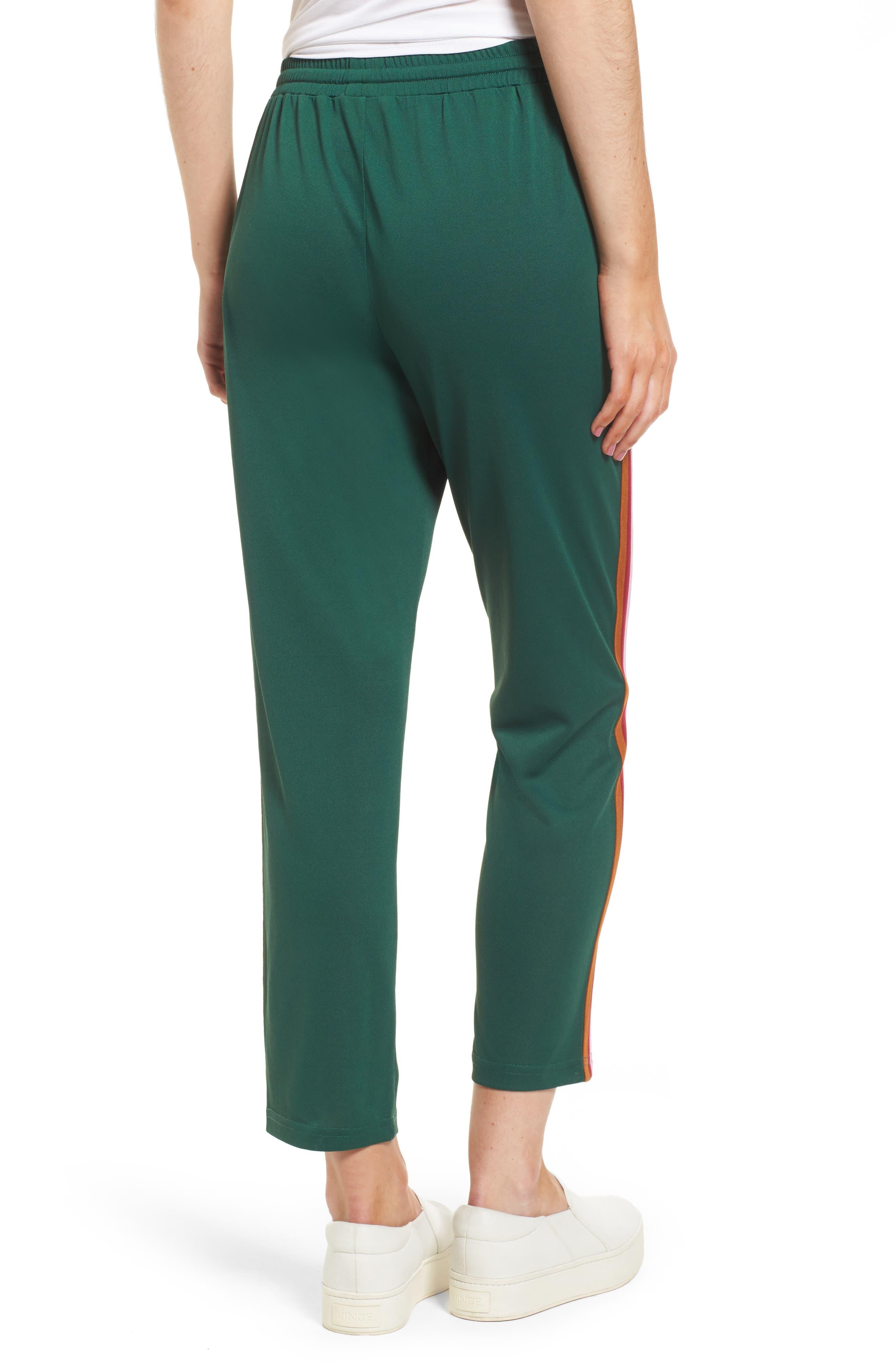 Jolie Crop Pants,                             Alternate thumbnail 3, color,                             Eden/ Pink