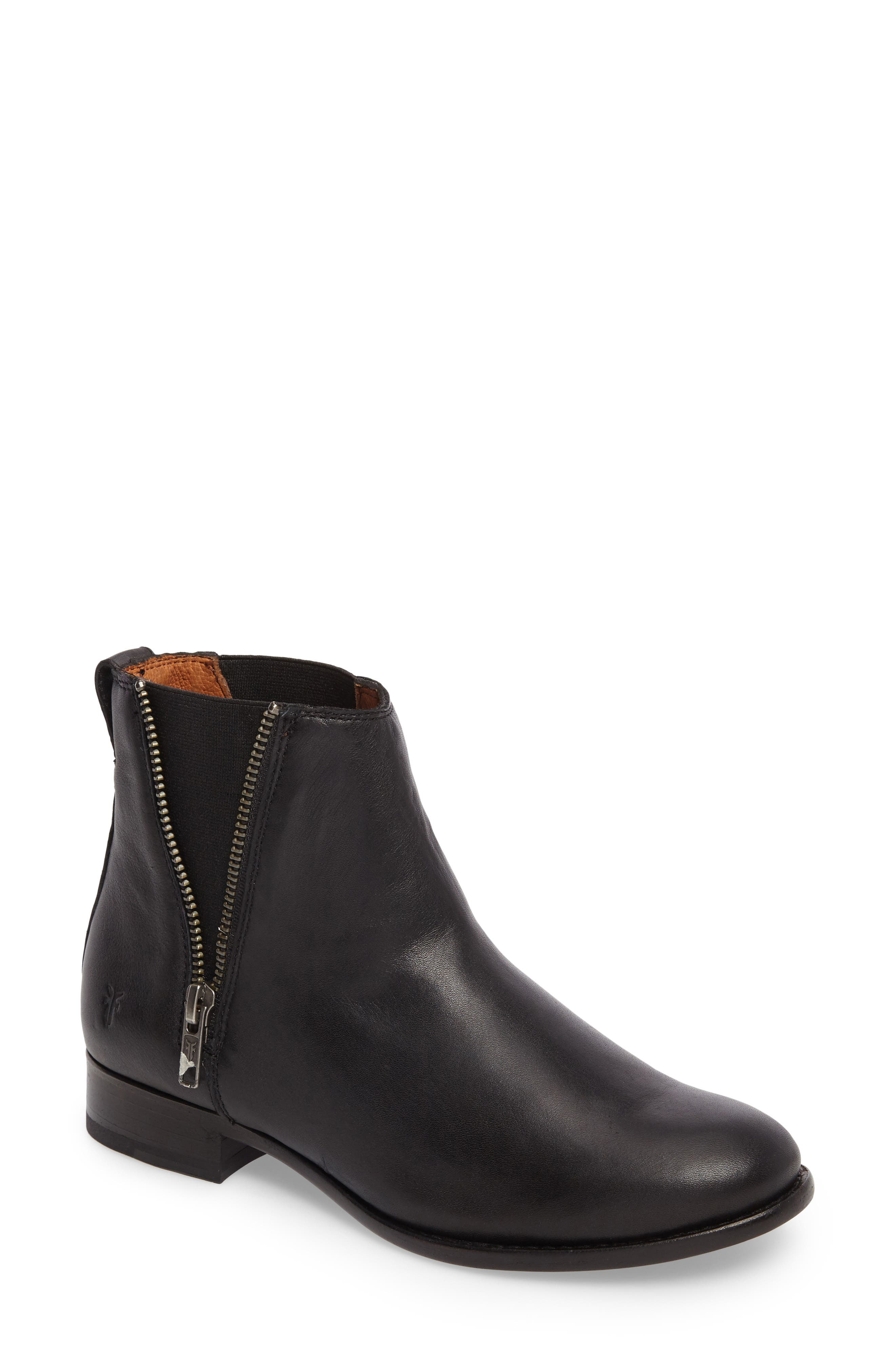 Carly Chelsea Boot,                         Main,                         color, Black Leather