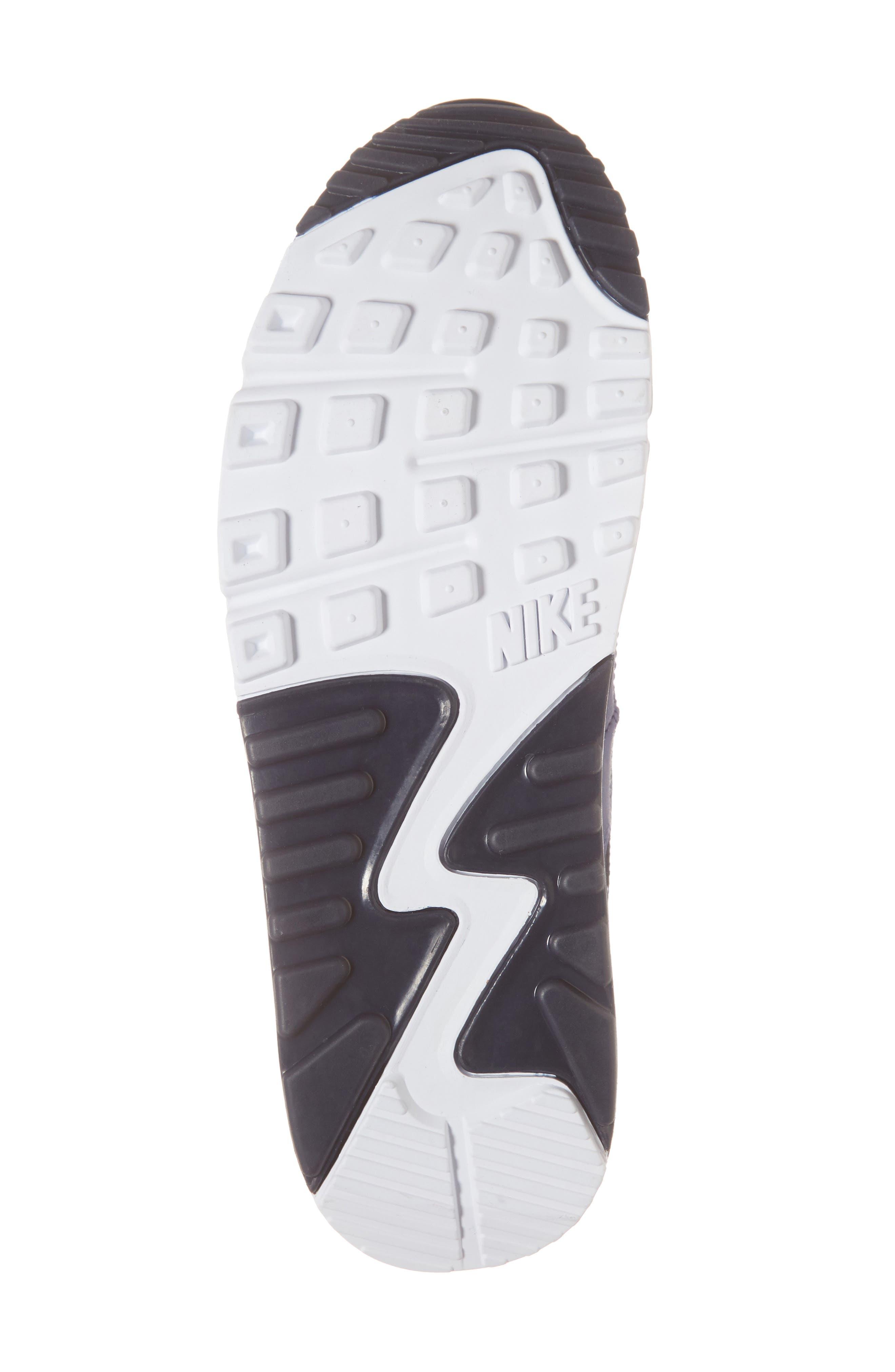 Air Max 90 Essential Sneaker,                             Alternate thumbnail 3, color,                             White/ Tour Yellow/ Blue