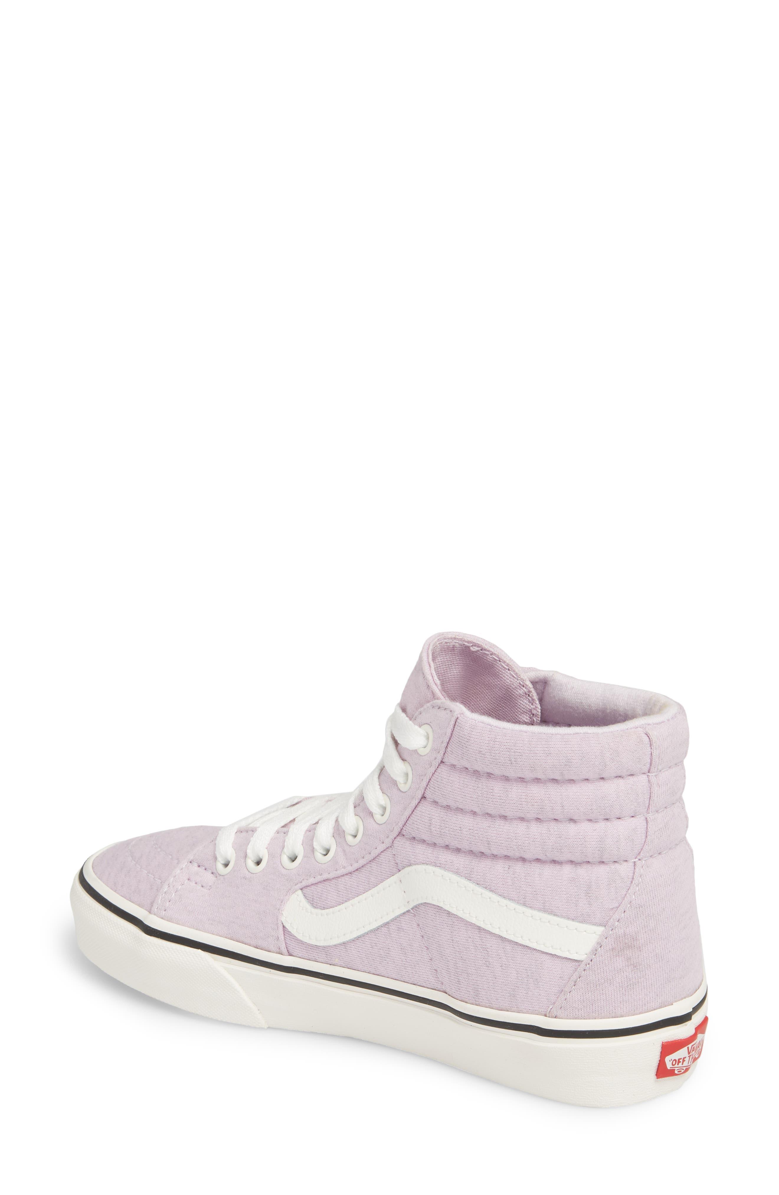 'Sk8-Hi' Sneaker,                             Alternate thumbnail 2, color,                             Lavender Fog/ Snow White