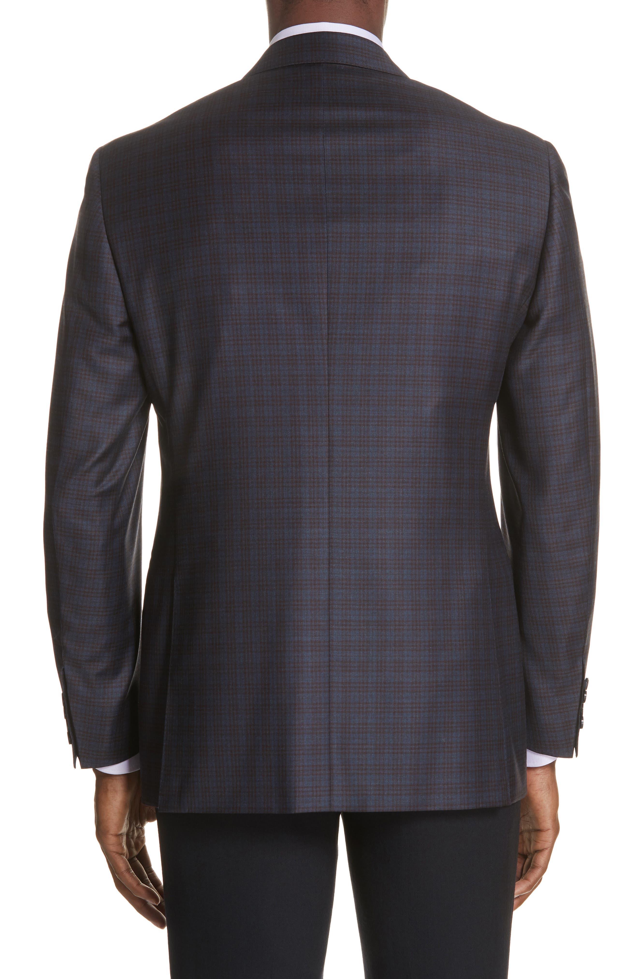 Classic Fit Plaid Wool Sport Coat,                             Alternate thumbnail 2, color,                             Dark Blue