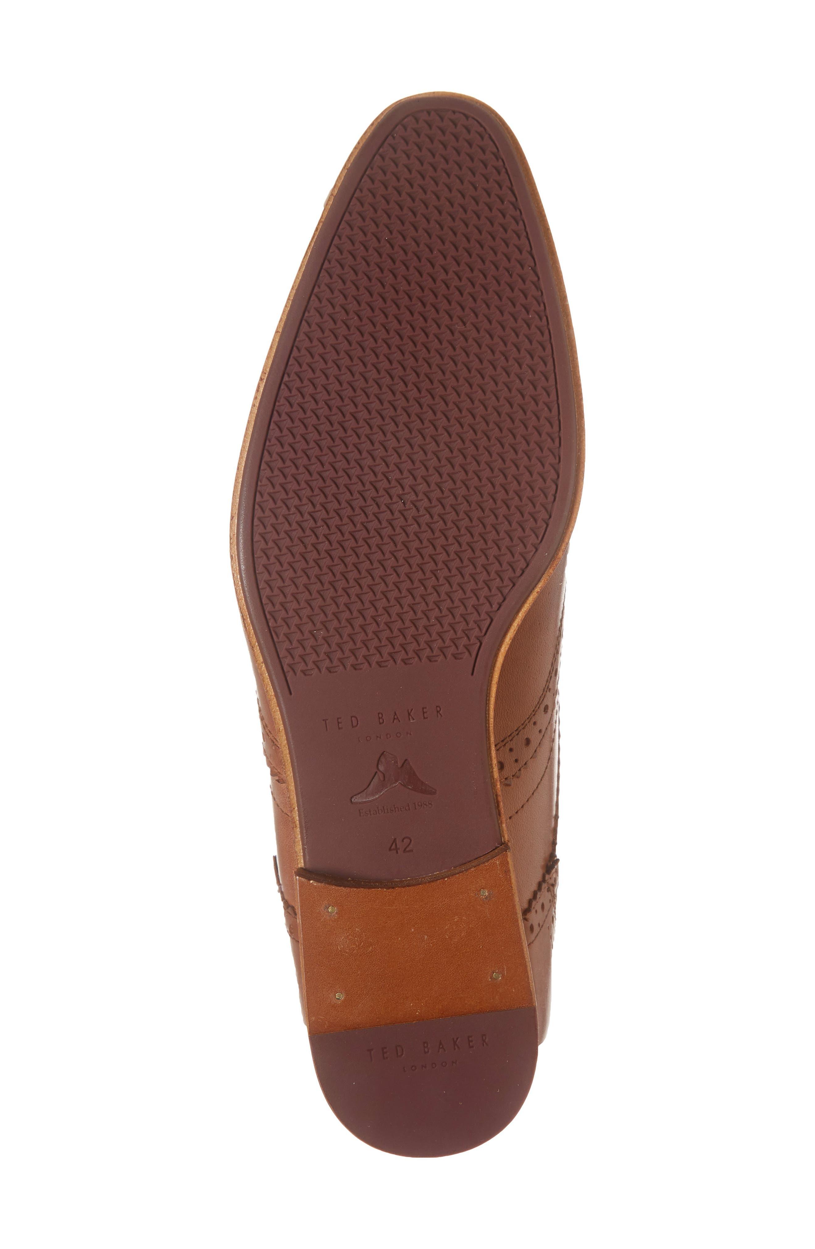 Camyli Wingtip,                             Alternate thumbnail 4, color,                             Tan Leather