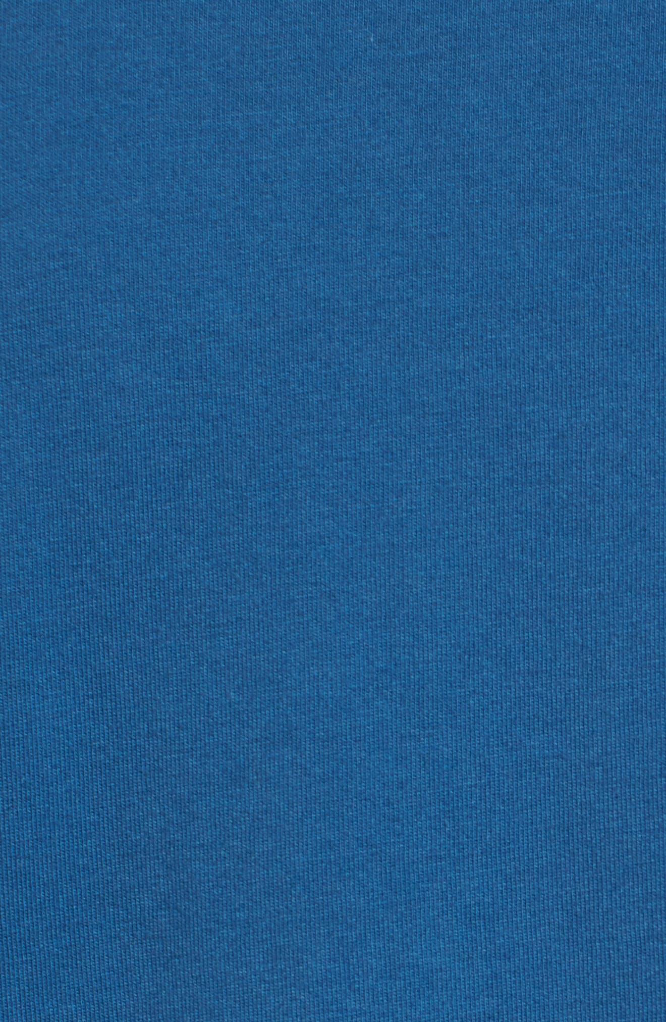 Waterline Graphic T-Shirt,                             Alternate thumbnail 3, color,                             Sea Blue