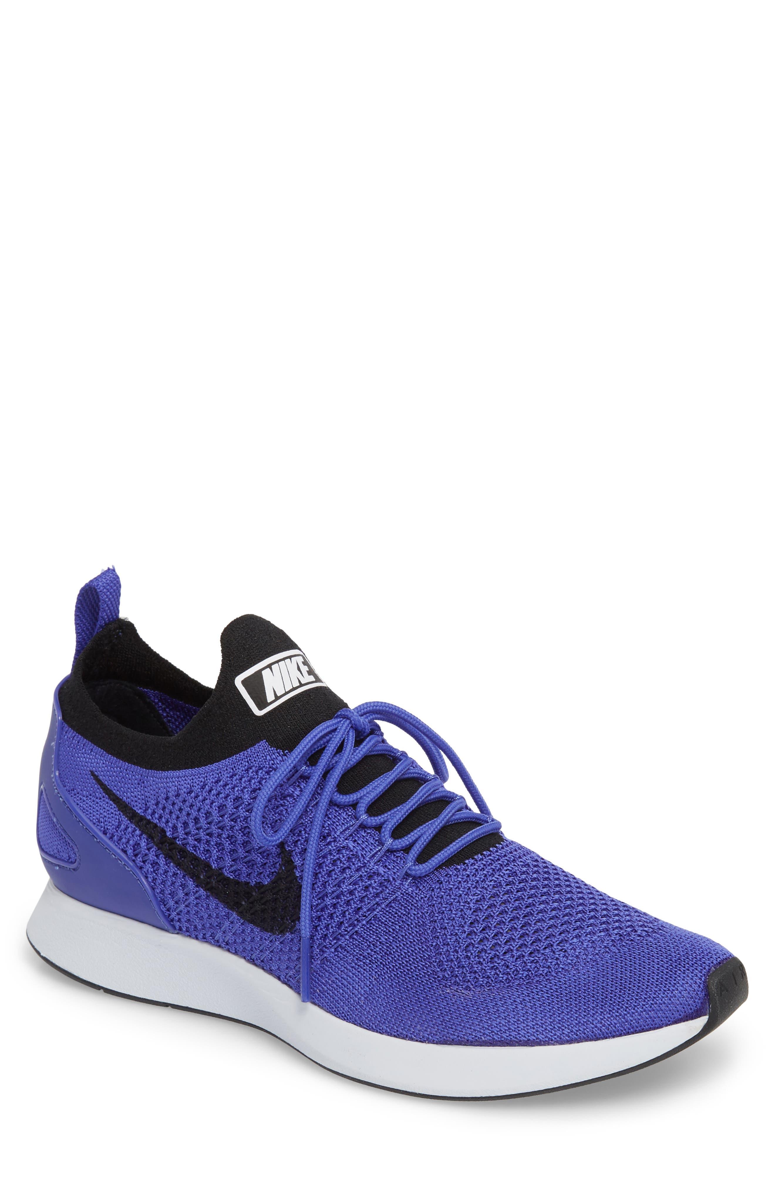 Air Zoom Mariah Flyknit Racer Sneaker,                             Main thumbnail 1, color,                             Violet/ Black/ White