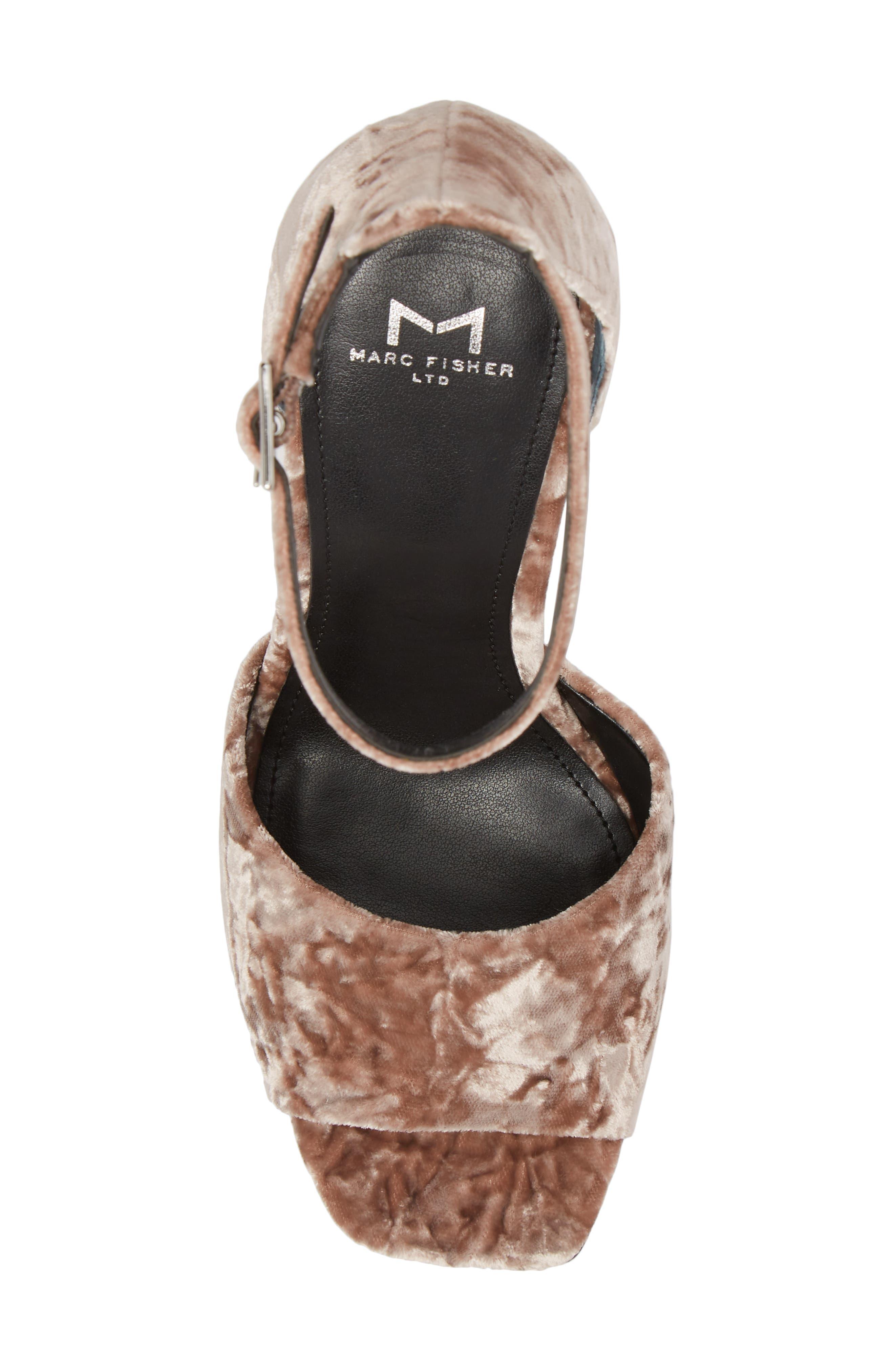 Harlin Ankle Strap Sandal,                             Alternate thumbnail 4, color,                             Light Pink Fabric