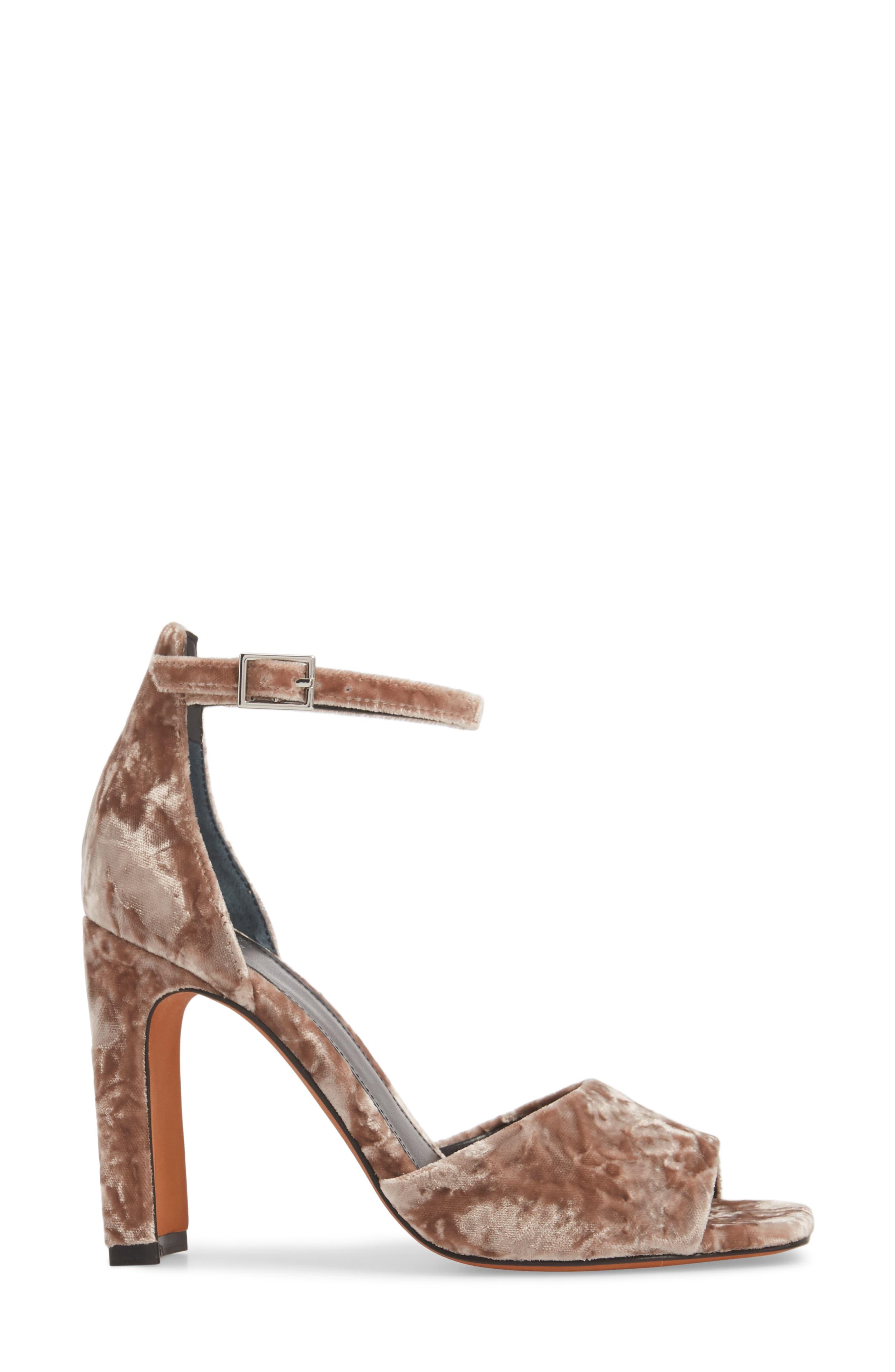 Harlin Ankle Strap Sandal,                             Alternate thumbnail 6, color,                             Light Pink Fabric
