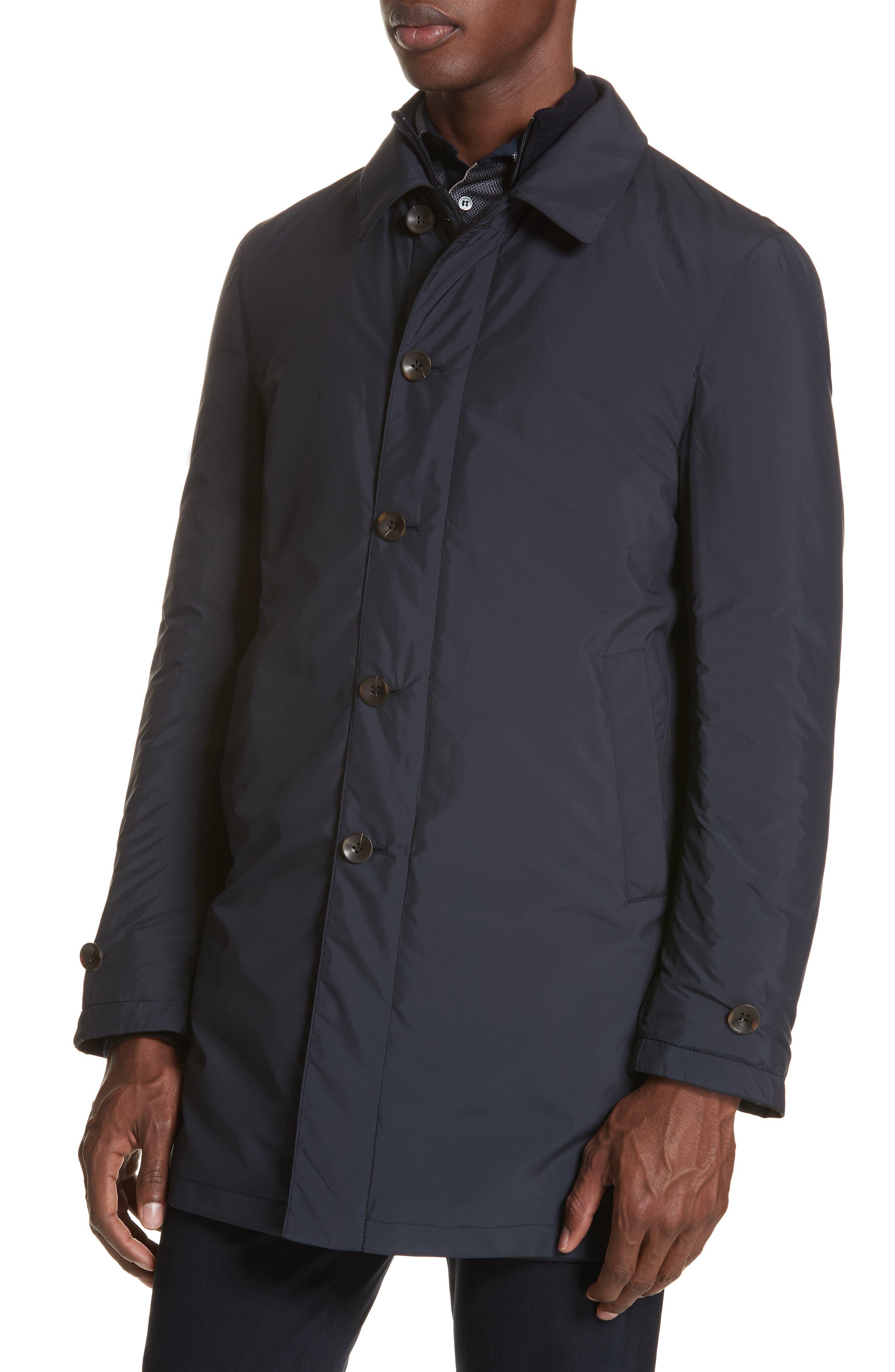 Regular Fit Reversible Raincoat,                             Alternate thumbnail 5, color,                             Blue