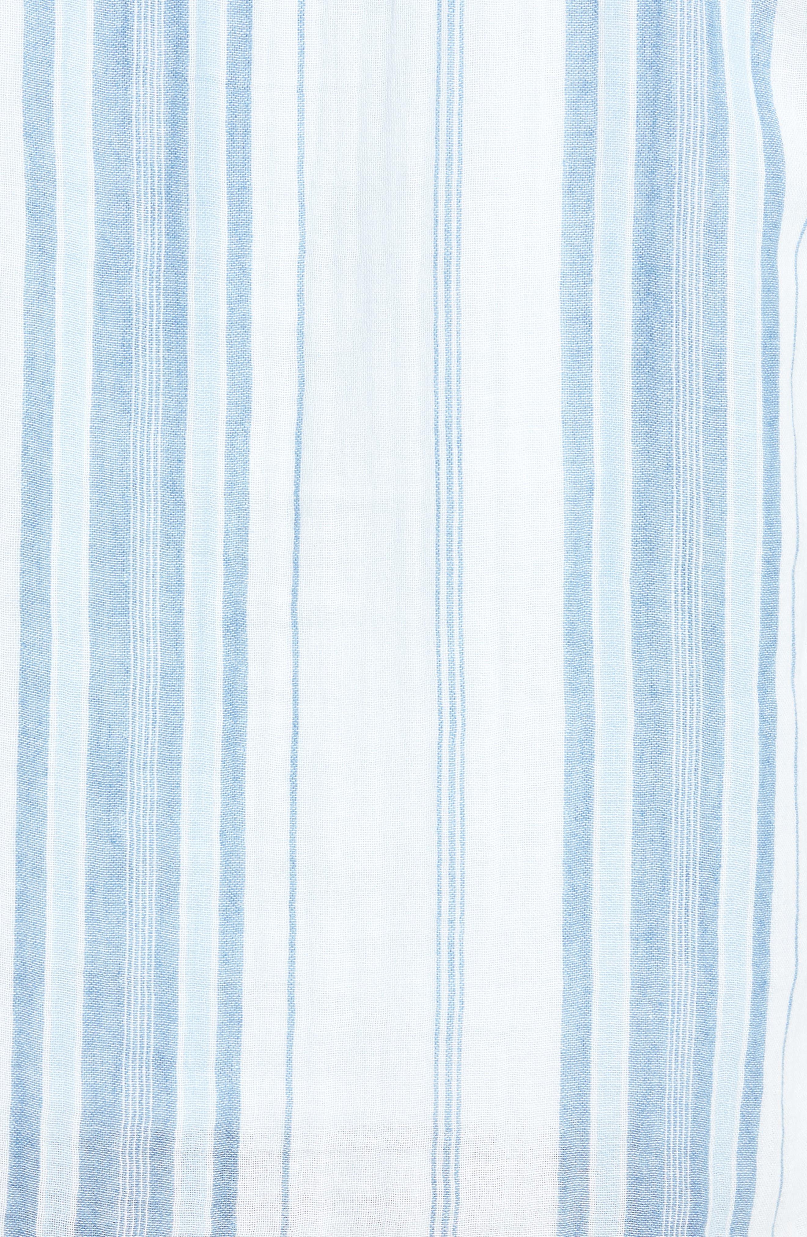 Baja Double Cloth Poncho,                             Alternate thumbnail 3, color,                             Light Indigo Serape