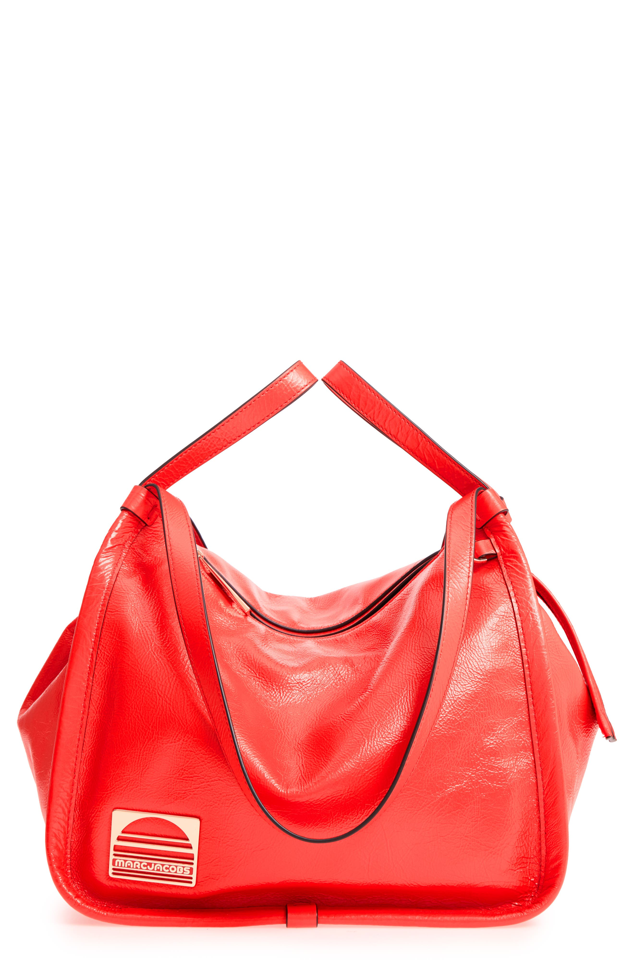 LEATHER SPORT TOTE - RED