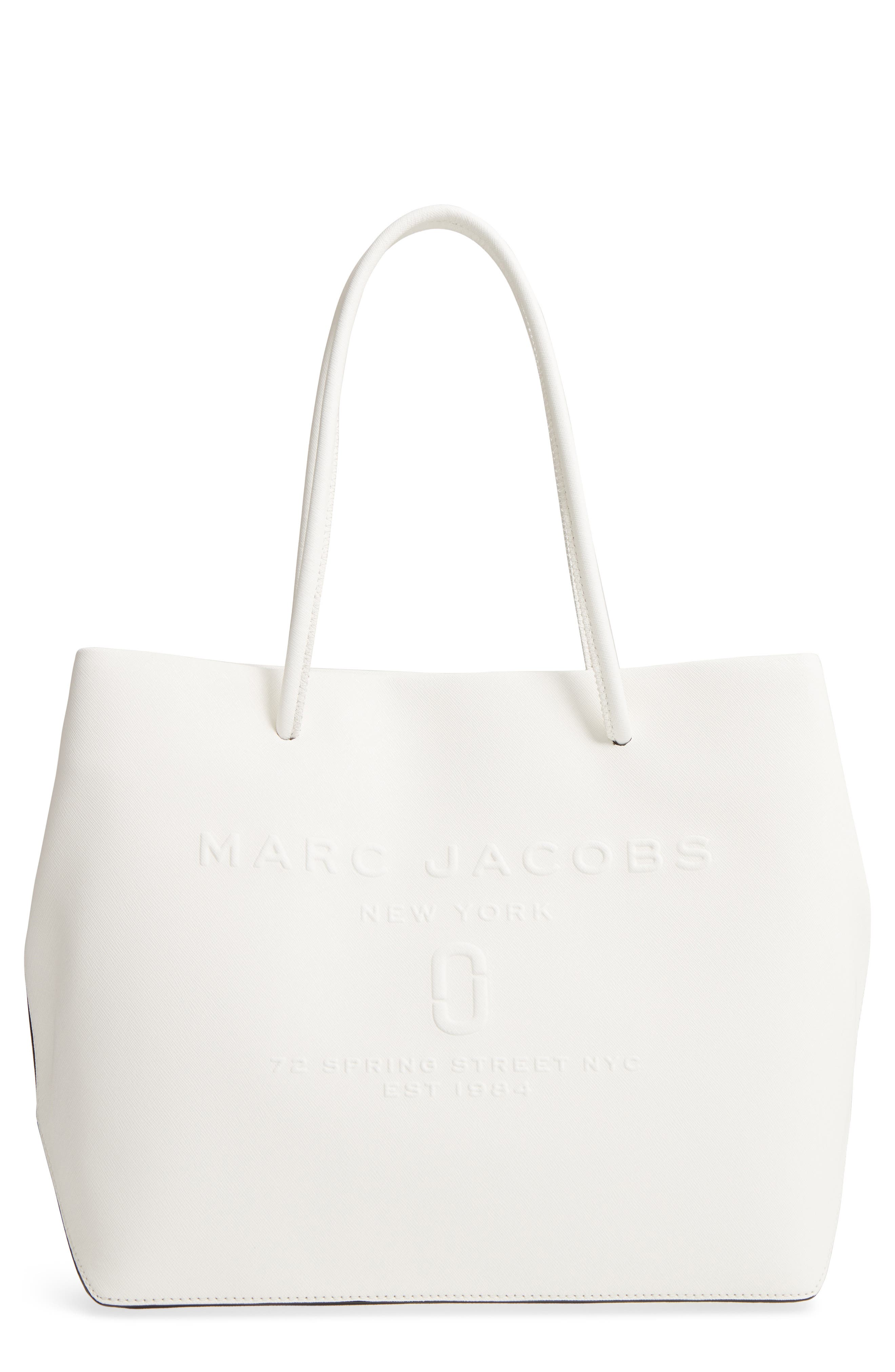 Logo Leather Shopper by Marc Jacobs