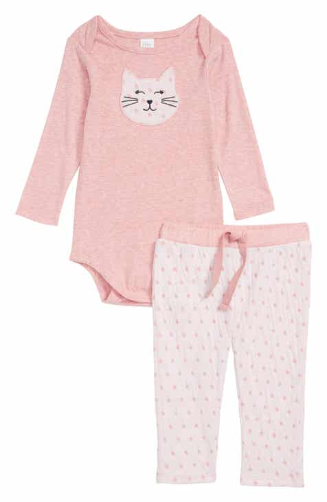Baby girls clothing dresses bodysuits footies nordstrom nordstrom baby cat bodysuit pants set baby girls negle Choice Image