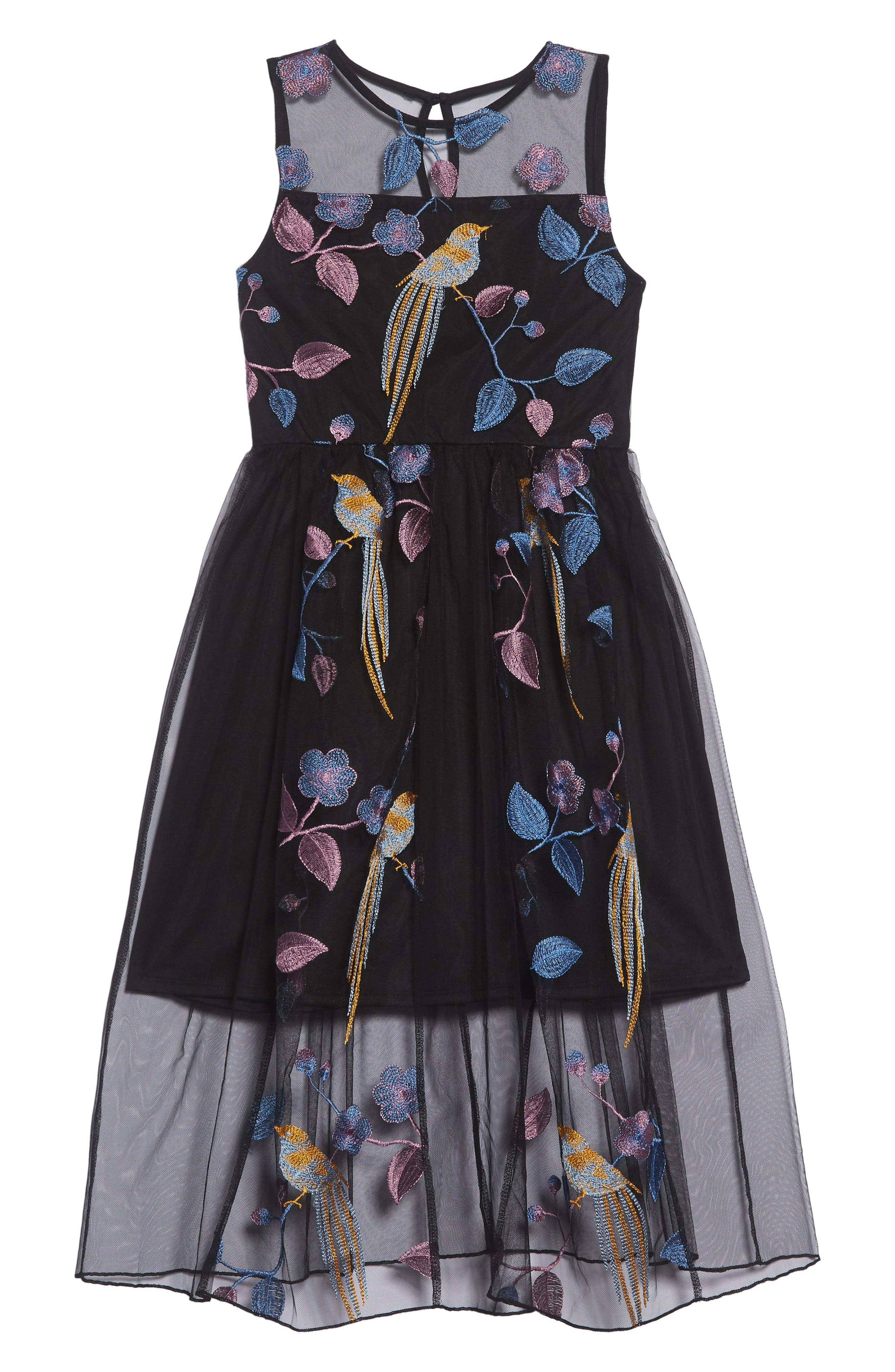 Embroidered Bird Maxi Dress by Trixxi