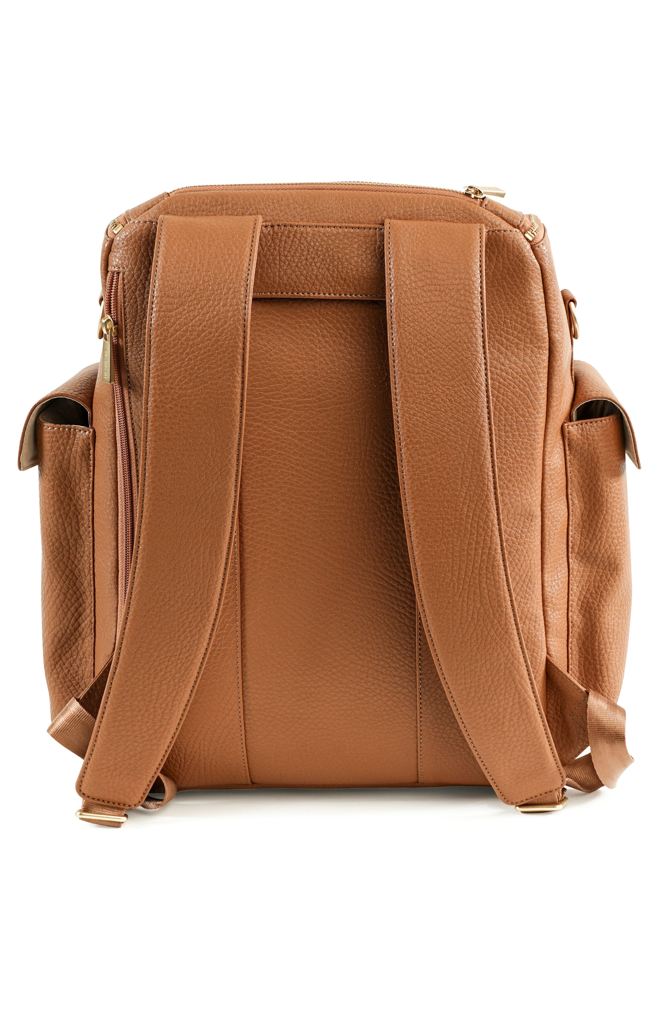 Ever Collection Forever Faux Leather Diaper Backpack,                             Alternate thumbnail 2, color,                             Brulee