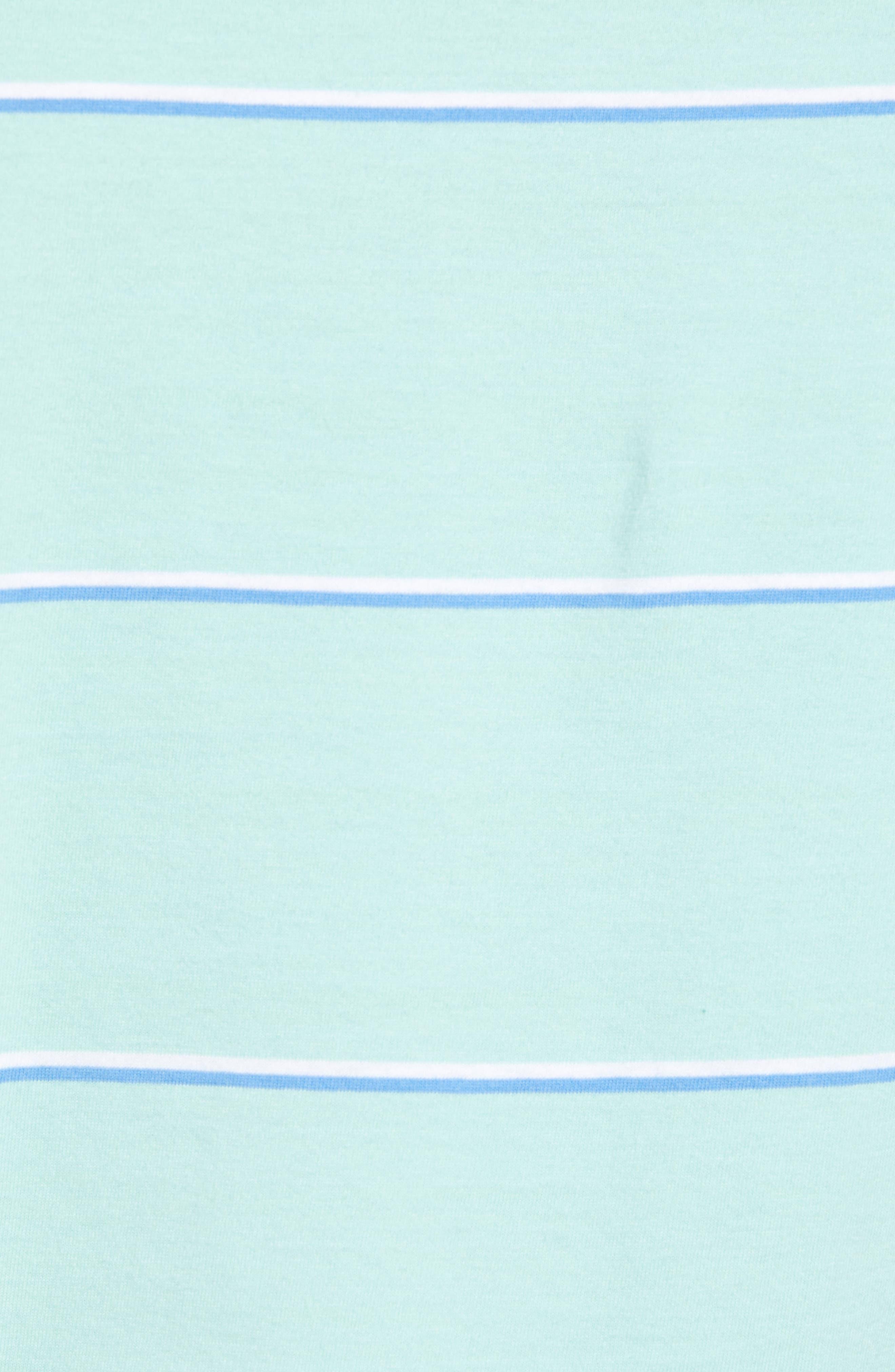 Marley Regular Fit Stripe Polo,                             Alternate thumbnail 4, color,                             Fern