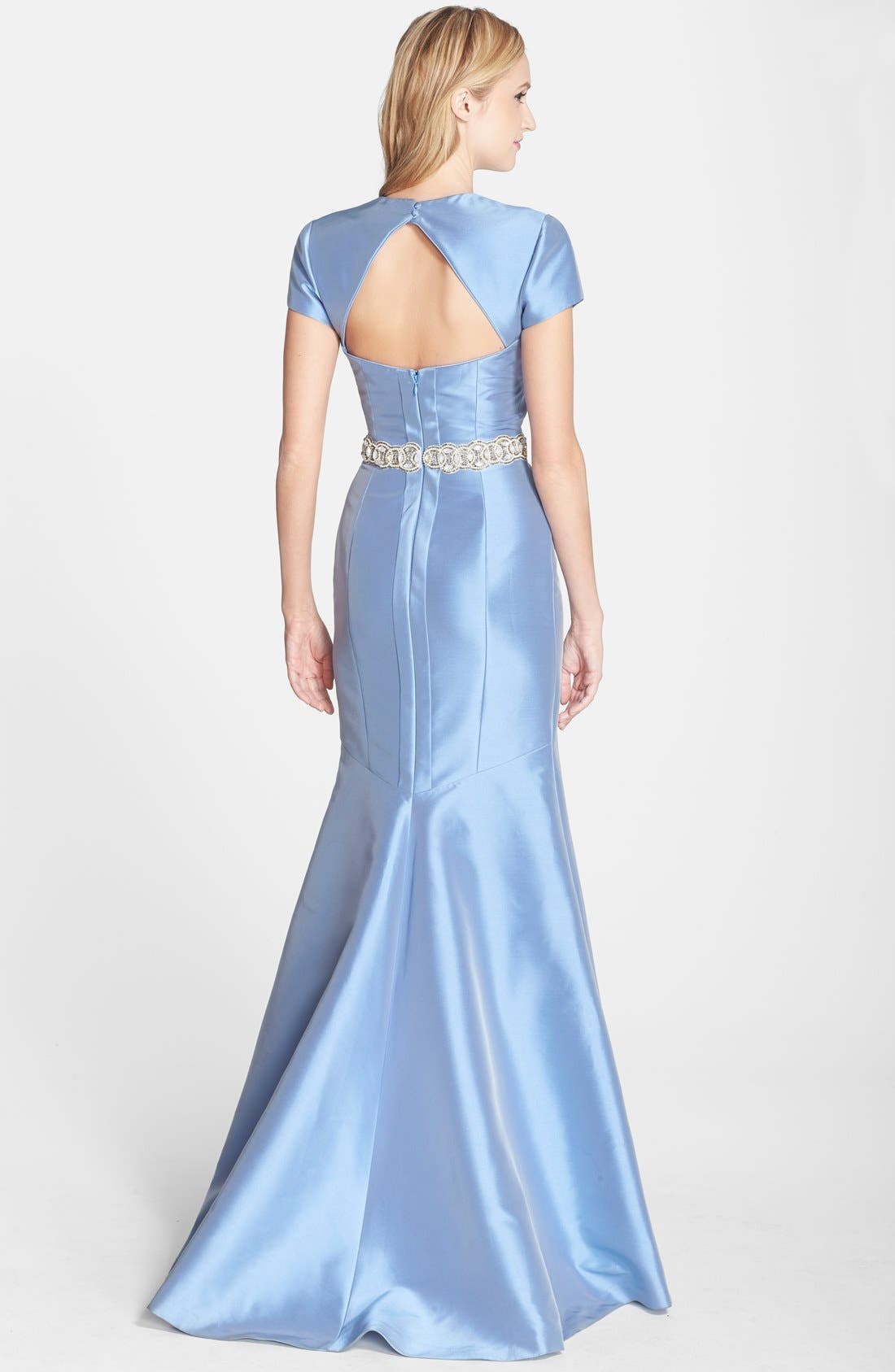 Alternate Image 2  - Theia Embellished Cutout Mermaid Gown