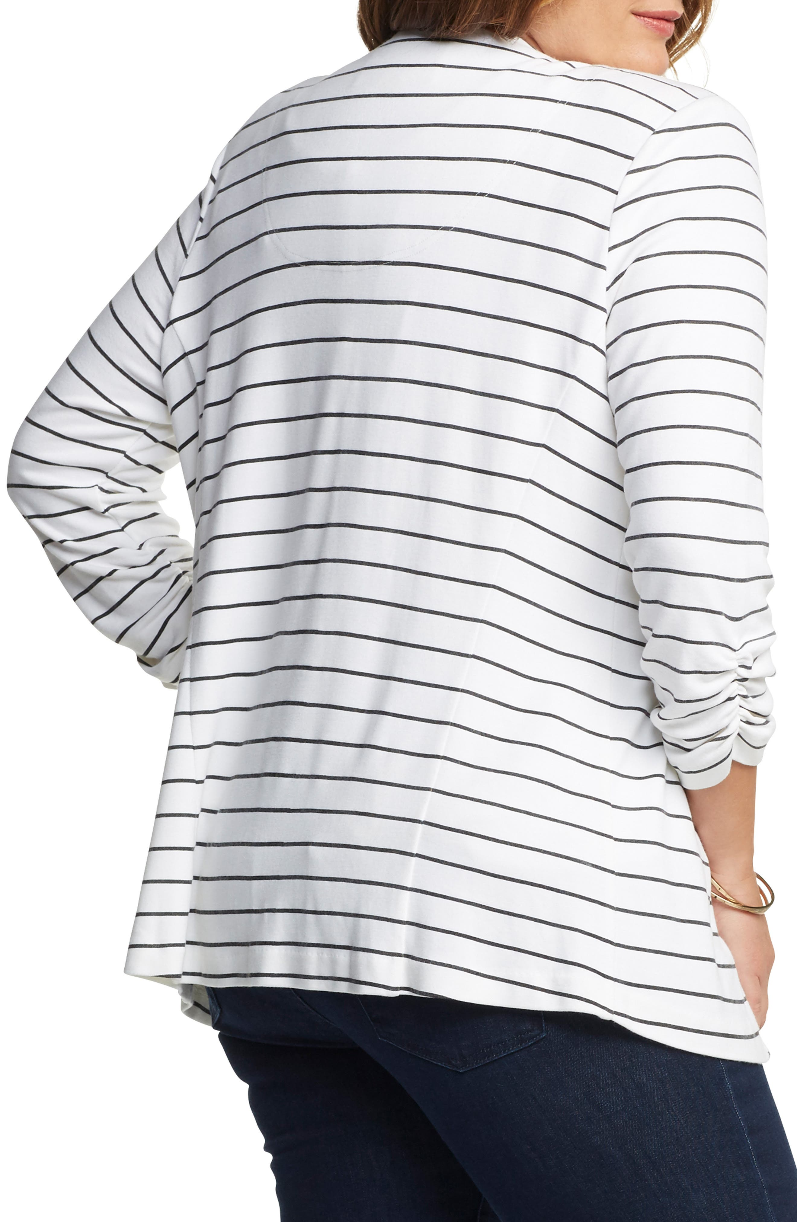 'Olga' Knit Jacket,                             Alternate thumbnail 2, color,                             Open Stripe