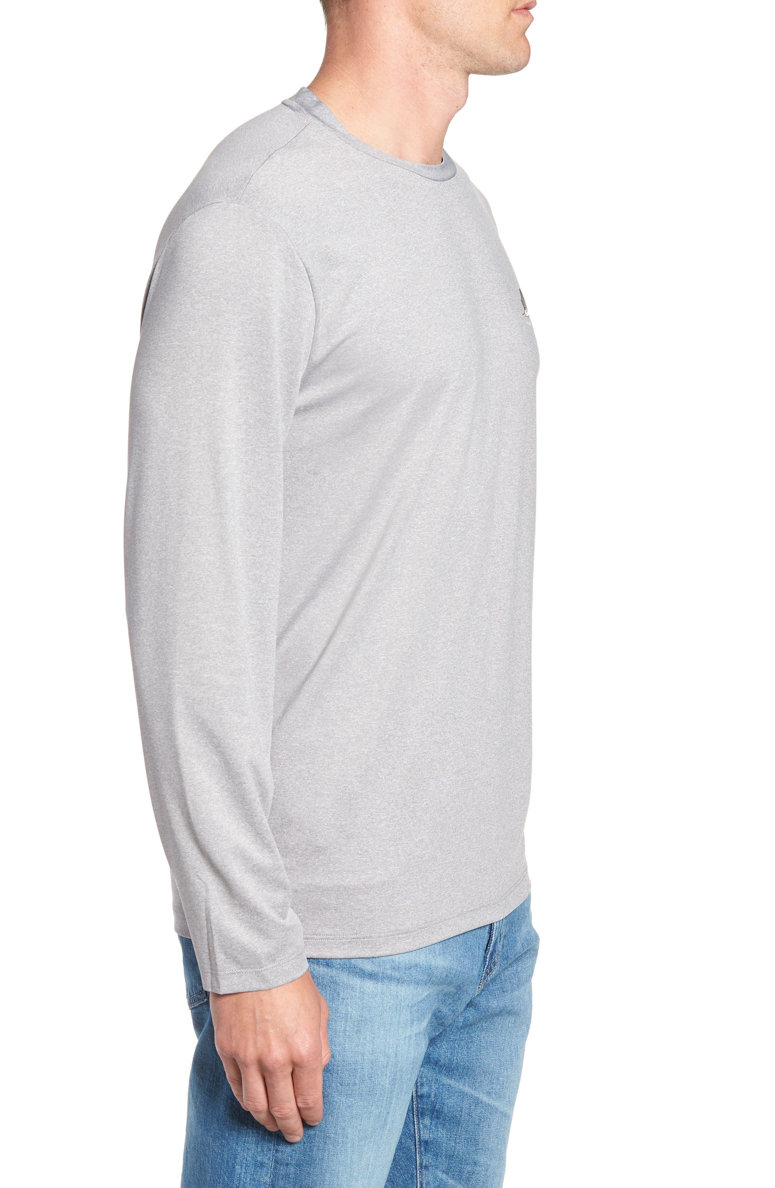 Sailfish Logo Performance T-Shirt,                             Alternate thumbnail 5, color,                             Grey Heather