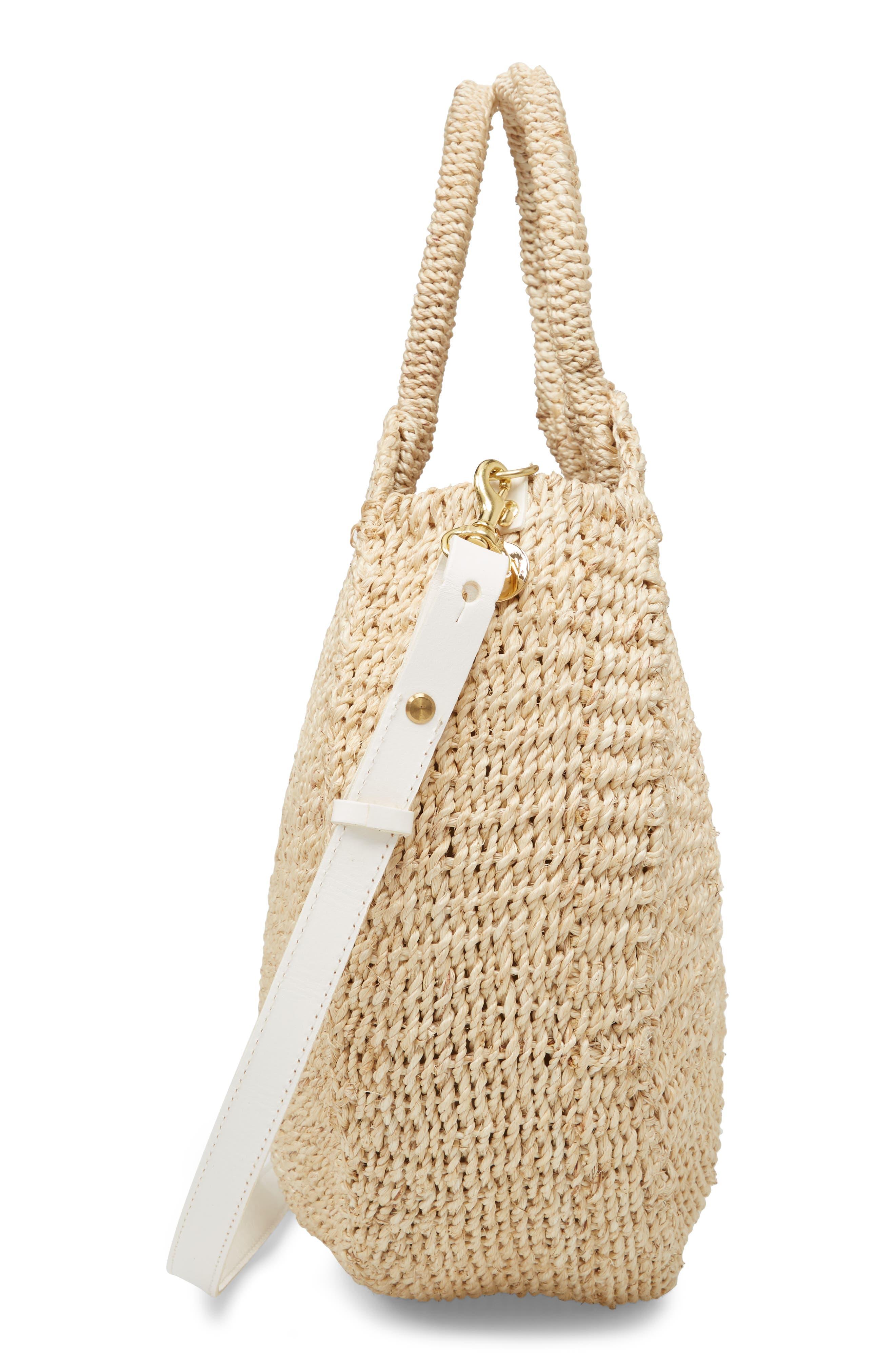Alice Woven Sisal Straw Bag,                             Alternate thumbnail 4, color,                             Natural