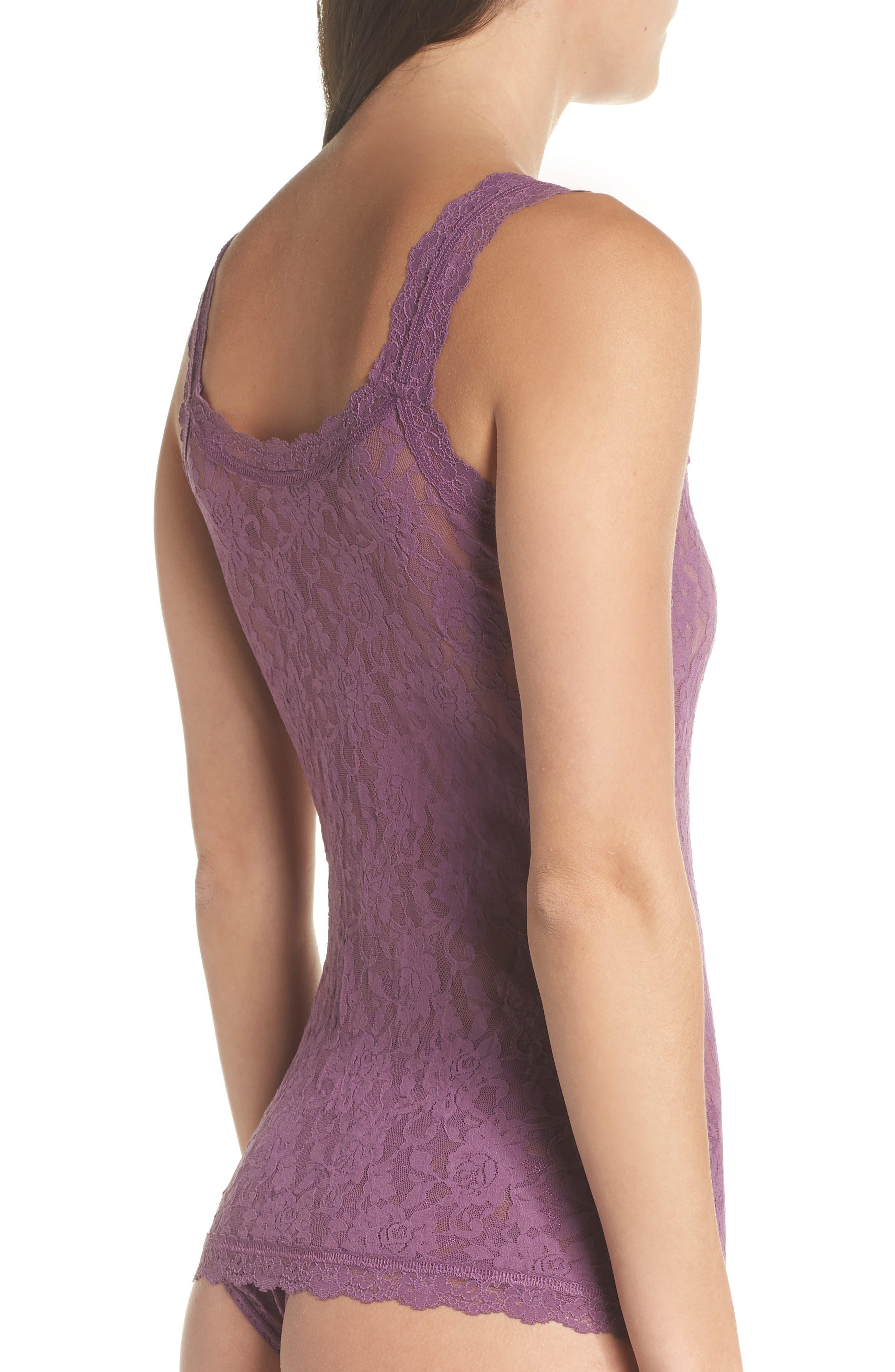'Signature Lace' Camisole,                             Alternate thumbnail 2, color,                             Valiant Purple