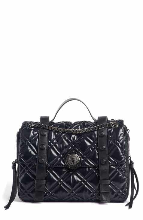 Balmain Quilted Faux Leather Shoulder Bag