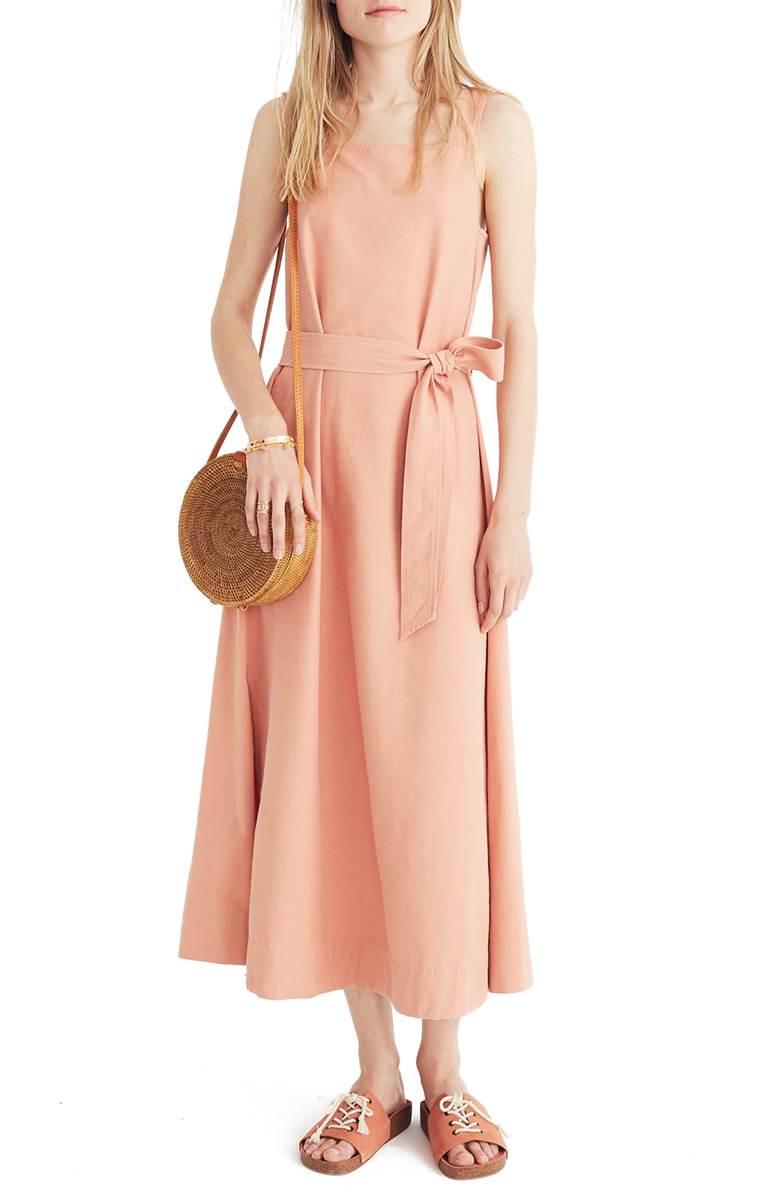 APRON TIE WAIST DRESS