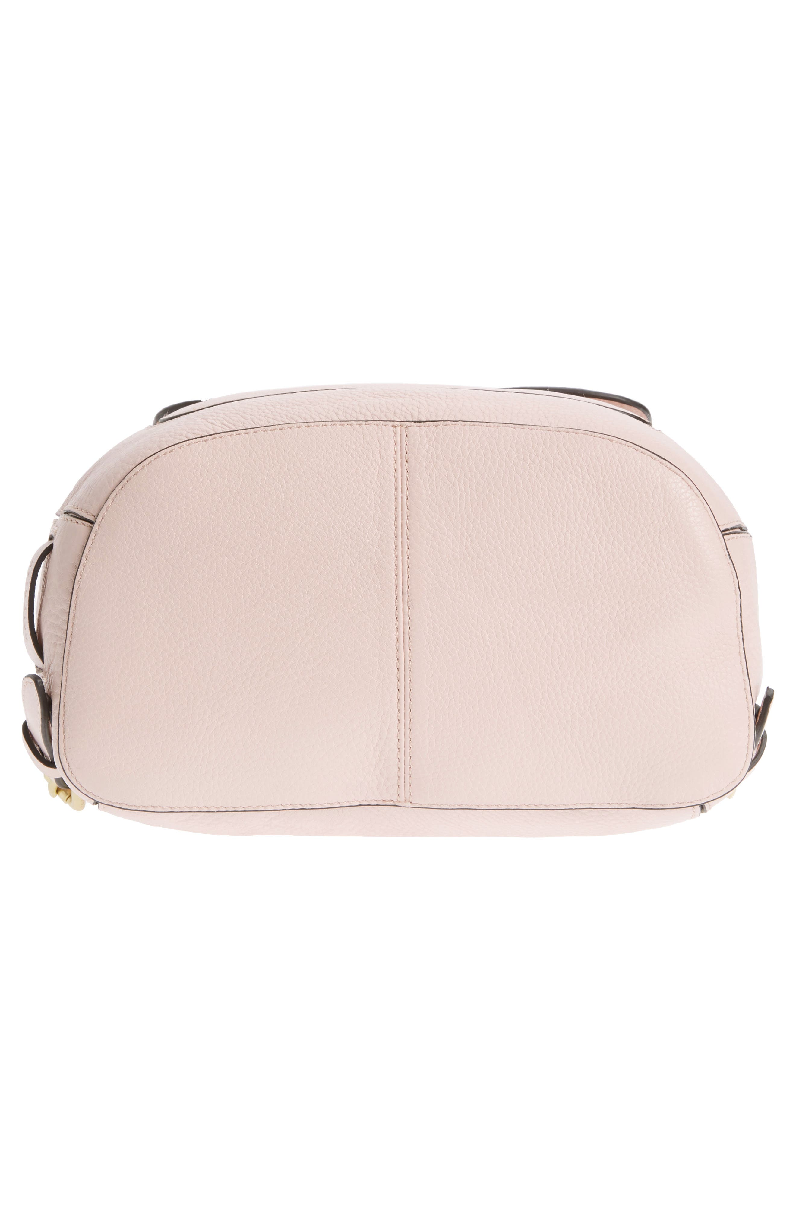 Cassidy RFID Pebbled Leather Backpack,                             Alternate thumbnail 3, color,                             Peach Blush