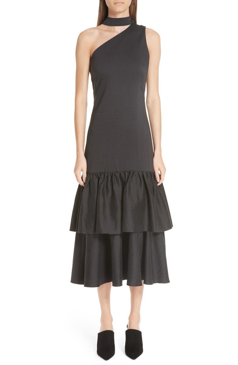 Lizzie Tiered One Shoulder Dress