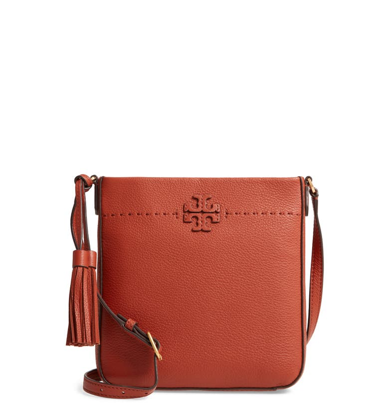 McGraw Leather Crossbody Tote,                         Main,                         color, Desert Spice