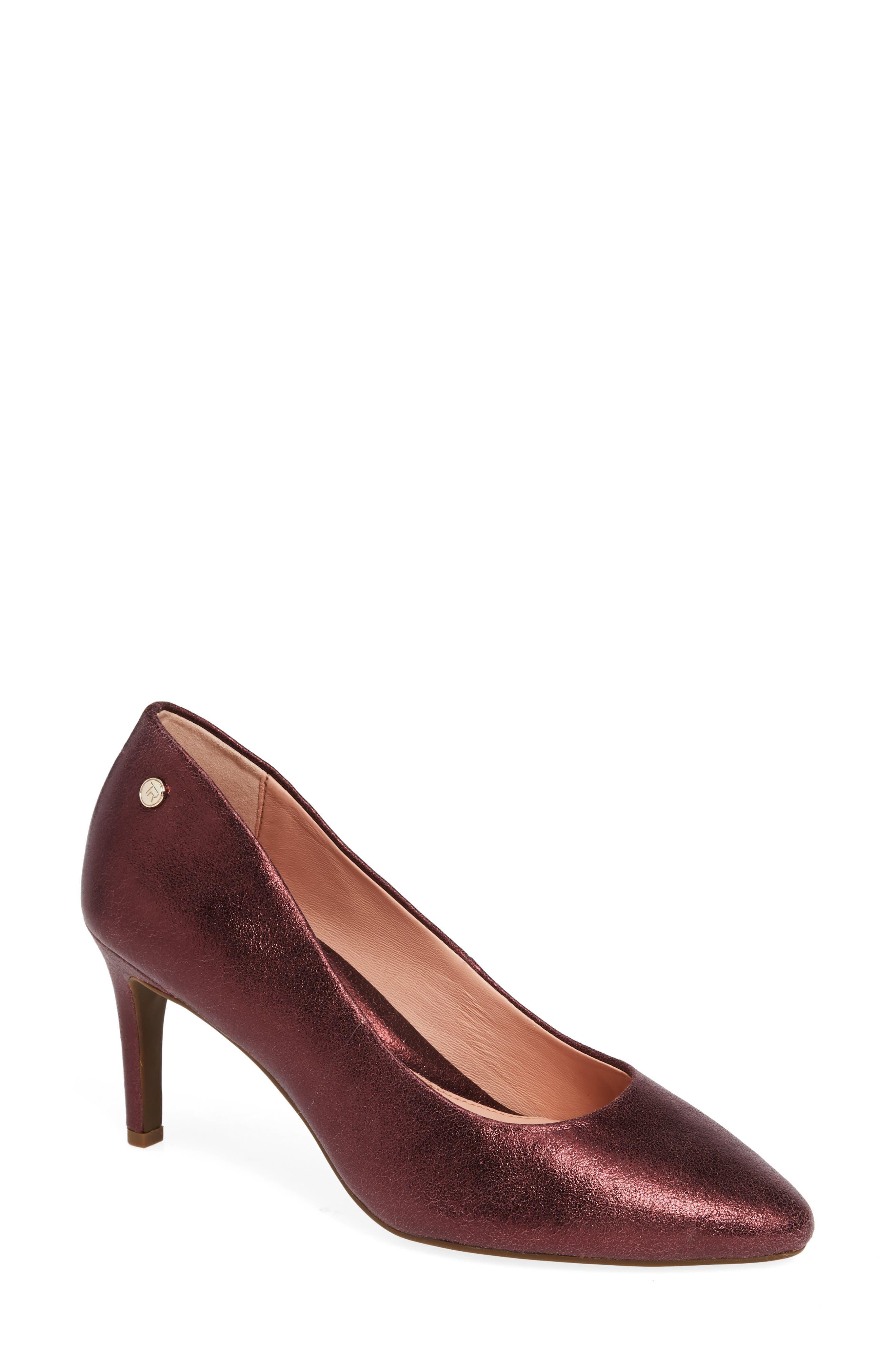 Tamara Pump,                         Main,                         color, Fig Leather