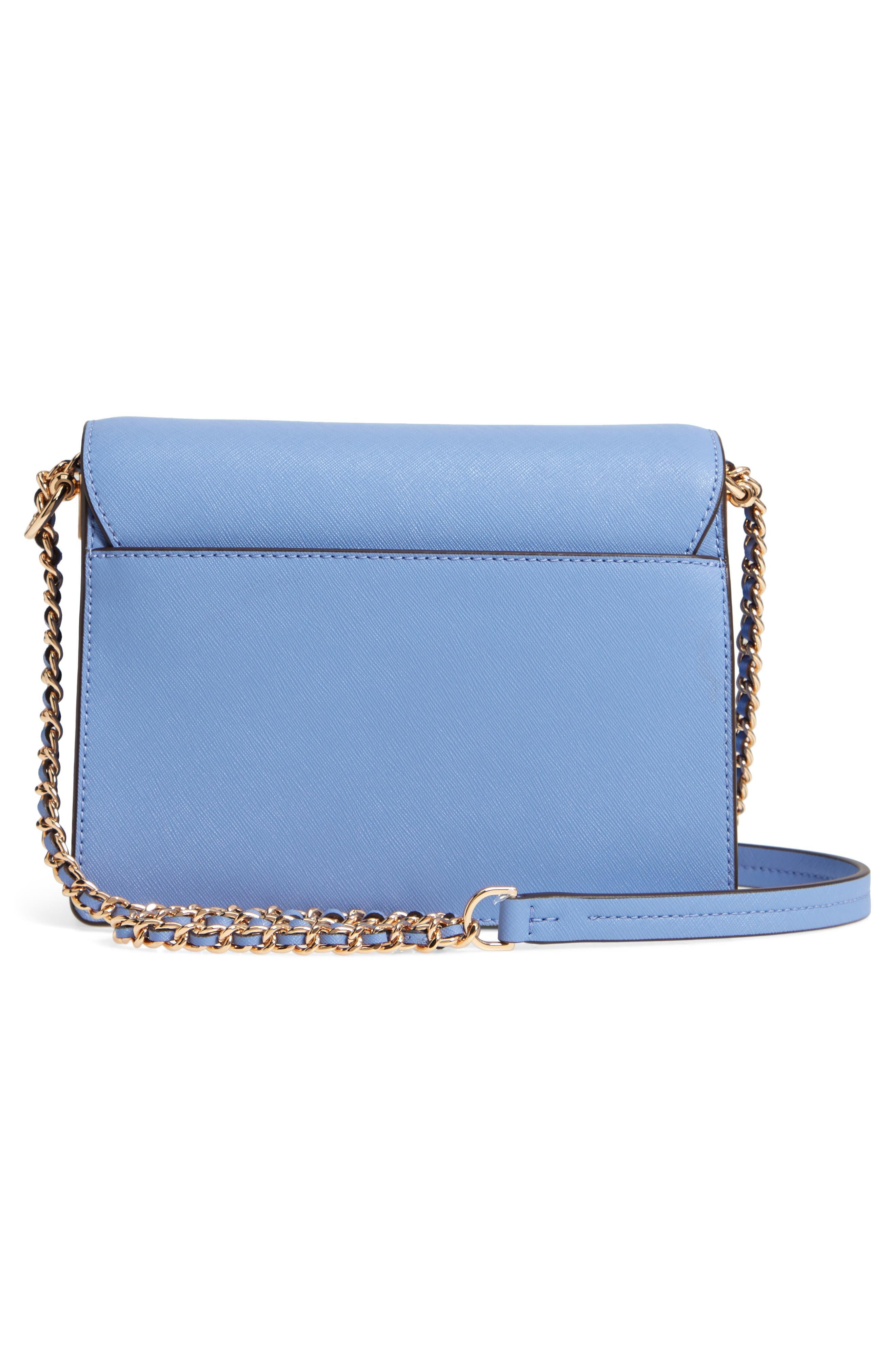 Robinson Convertible Leather Shoulder Bag,                             Alternate thumbnail 7, color,                             Bow Blue