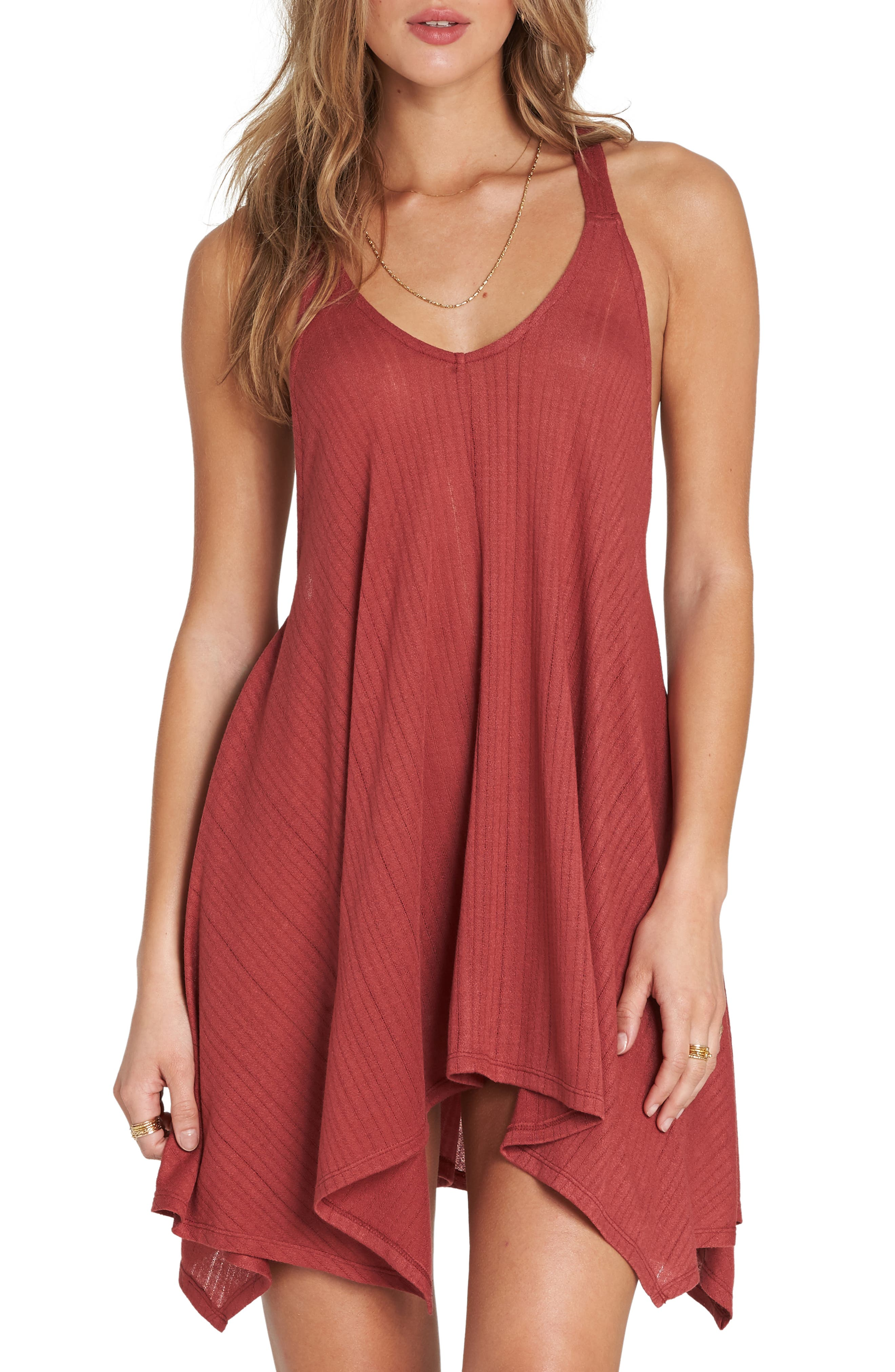 Twisted View Cover-Up Dress,                             Main thumbnail 1, color,                             Redwood