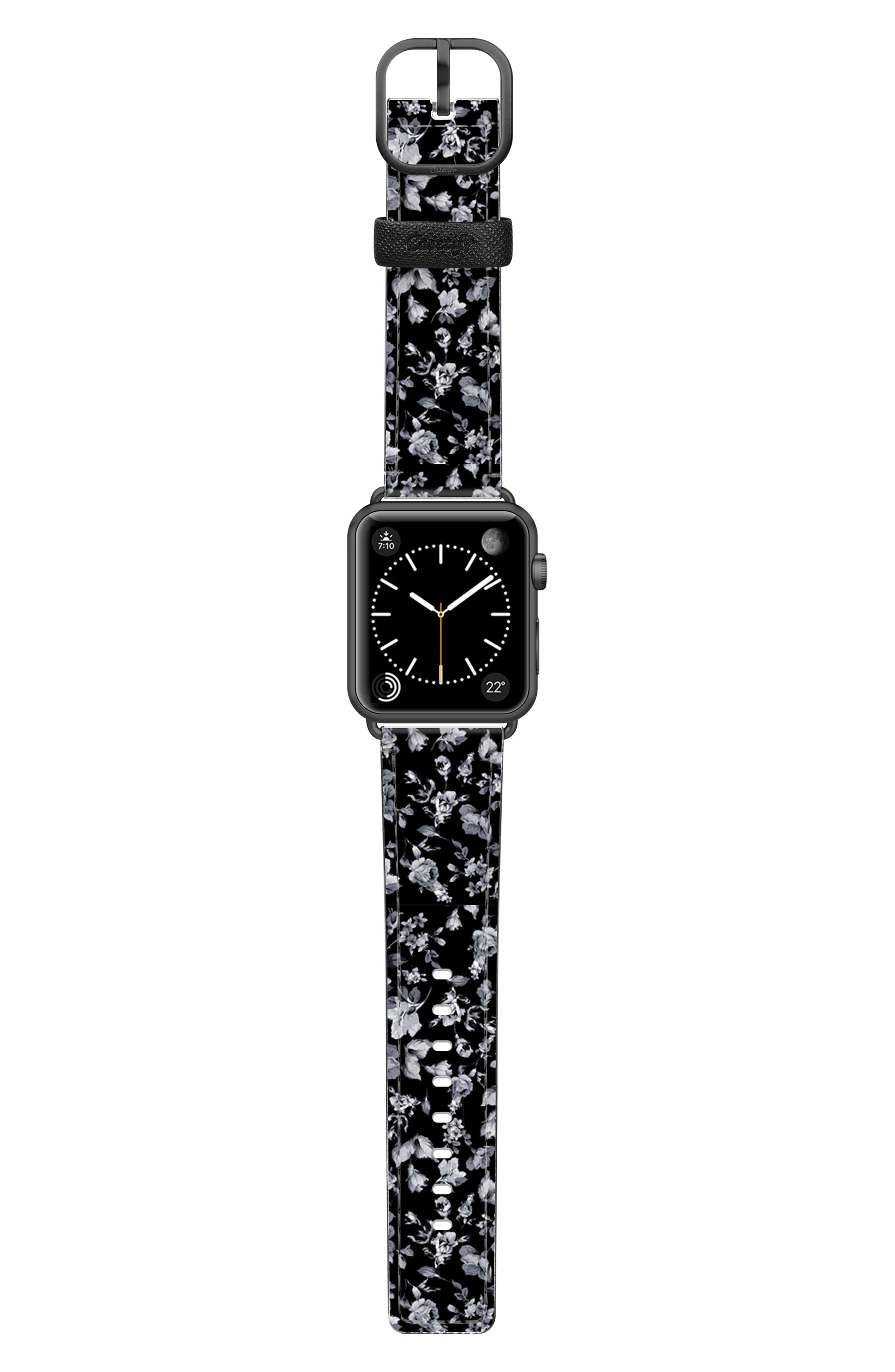 VINTAGE FLOWERS SAFFIANO FAUX LEATHER APPLE WATCH STRAP