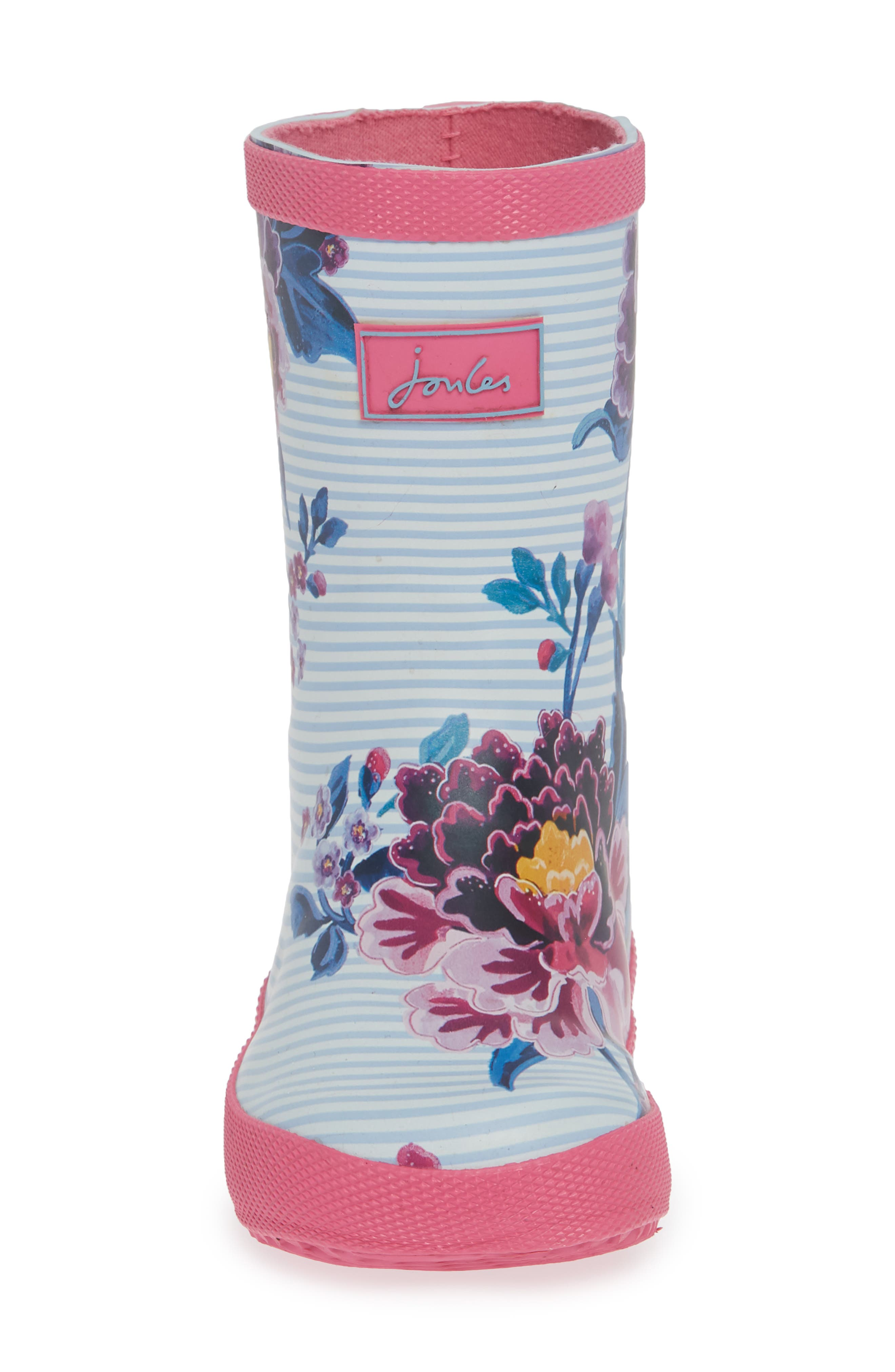Baby Welly Print Waterproof Boot,                             Alternate thumbnail 8, color,                             Sky Blue Chinoiserie Floral