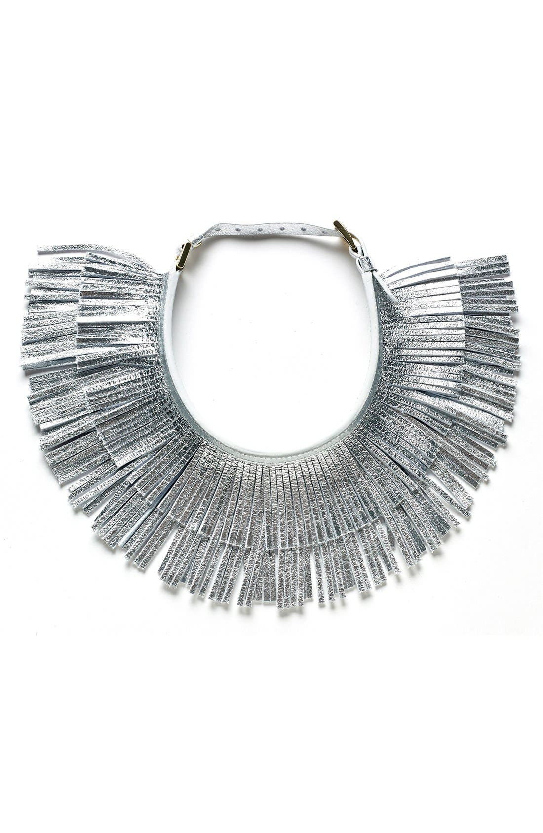 Alternate Image 1 Selected - Hayden-Harnett 'Ilaria' Leather Fringe Collar Necklace
