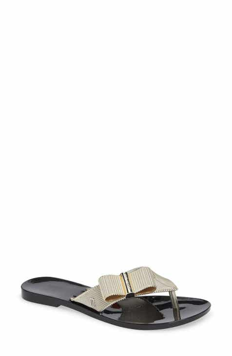 0f6bdc222c2 Melissa + Jason Wu Girl Chrome Flip Flop (Women)