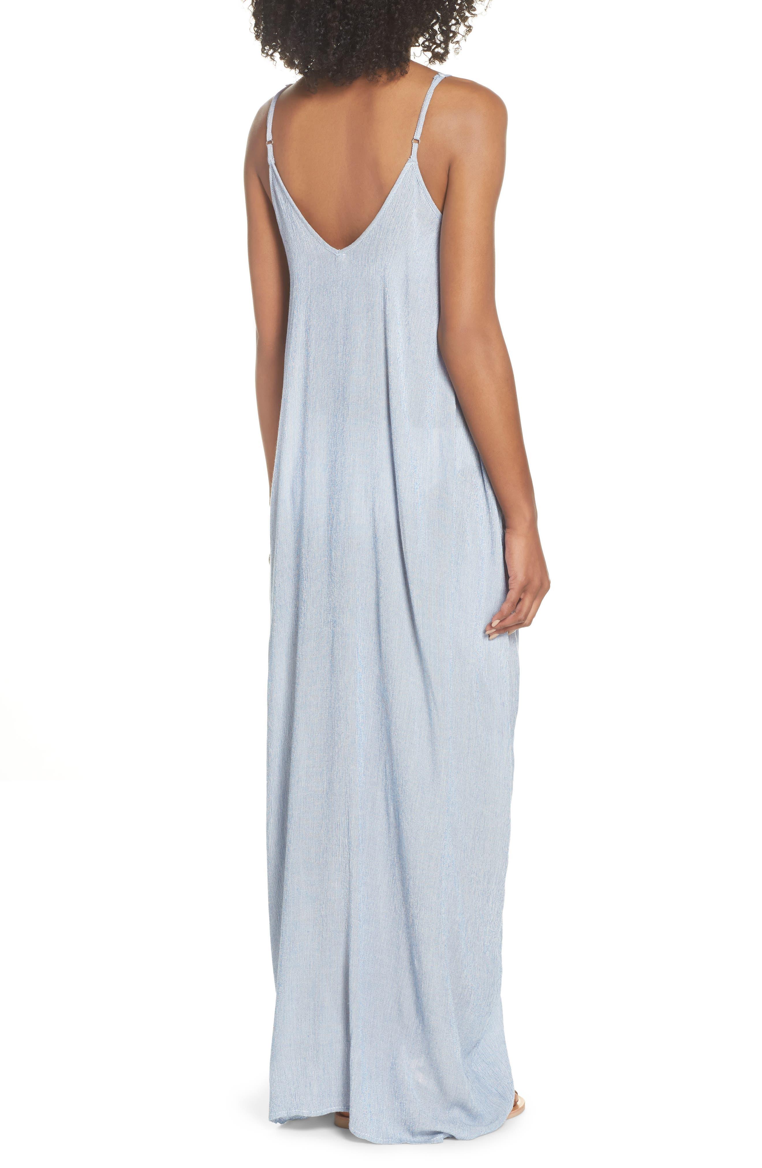 Cover-Up Maxi Dress,                             Alternate thumbnail 2, color,                             Blue Stripe