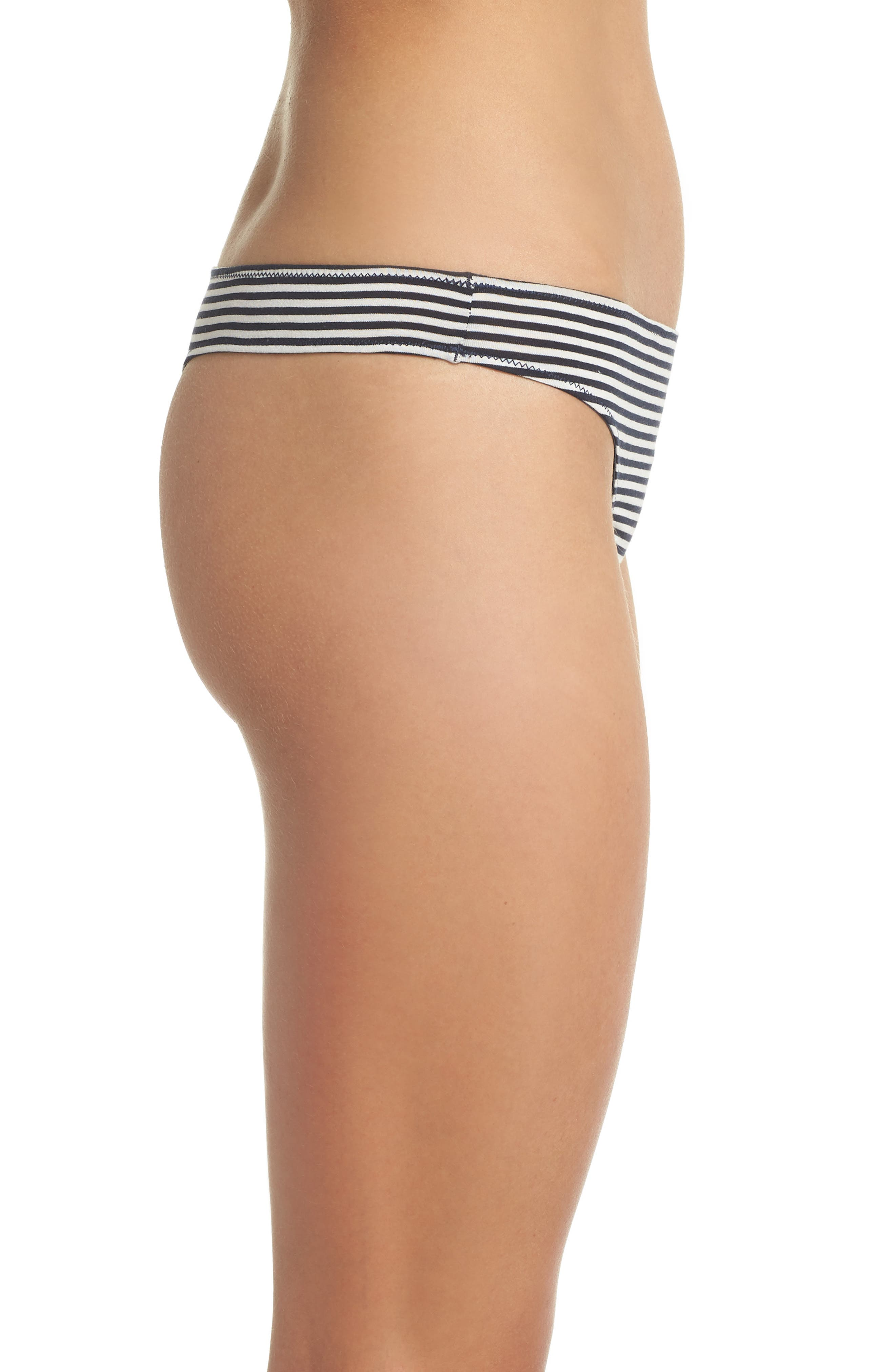 Jersey Thong,                             Alternate thumbnail 3, color,                             Heather Navy Stripe