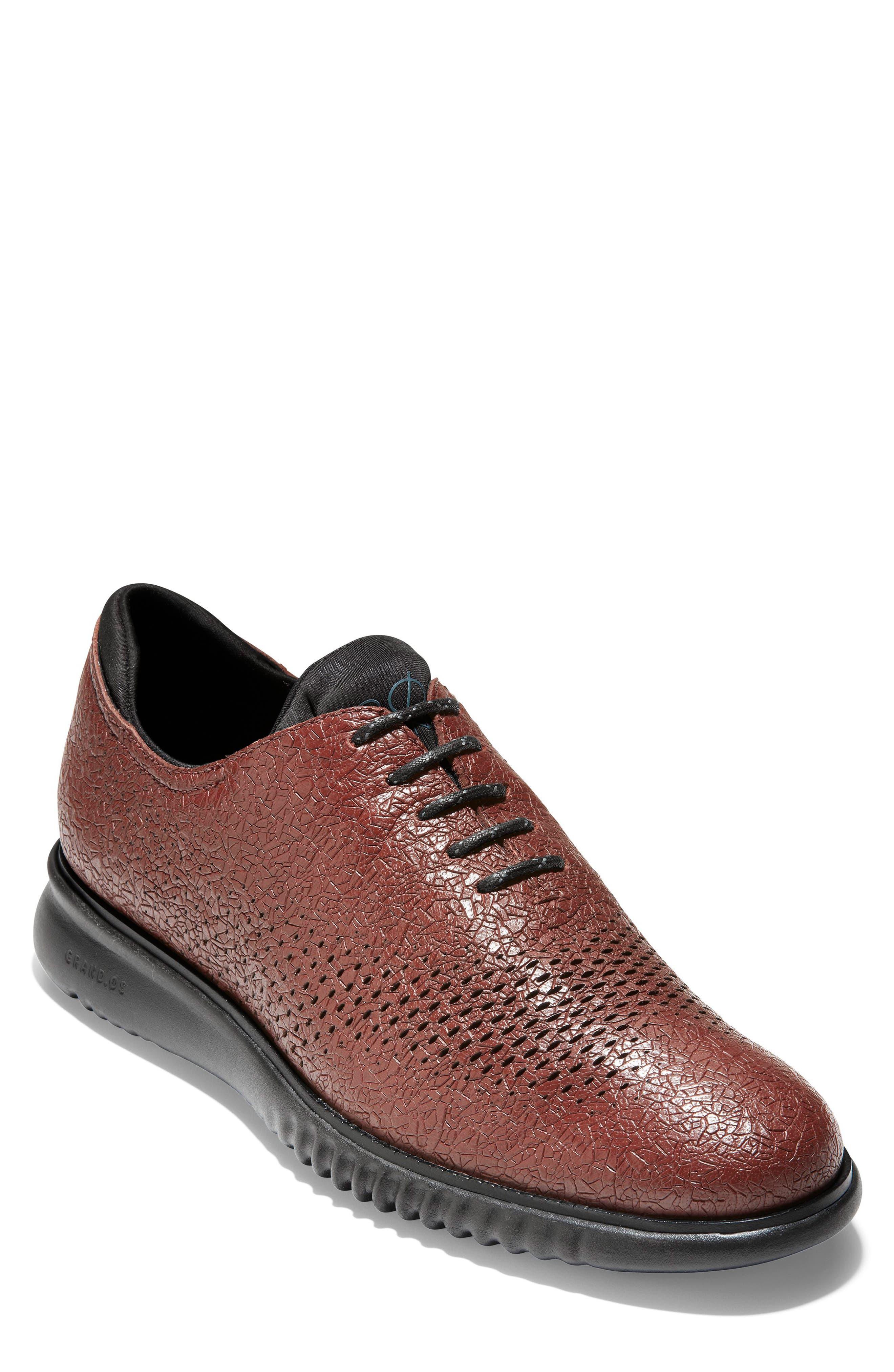 2.ZeroGrand Wingtip,                         Main,                         color, Hickory/ Black Leather