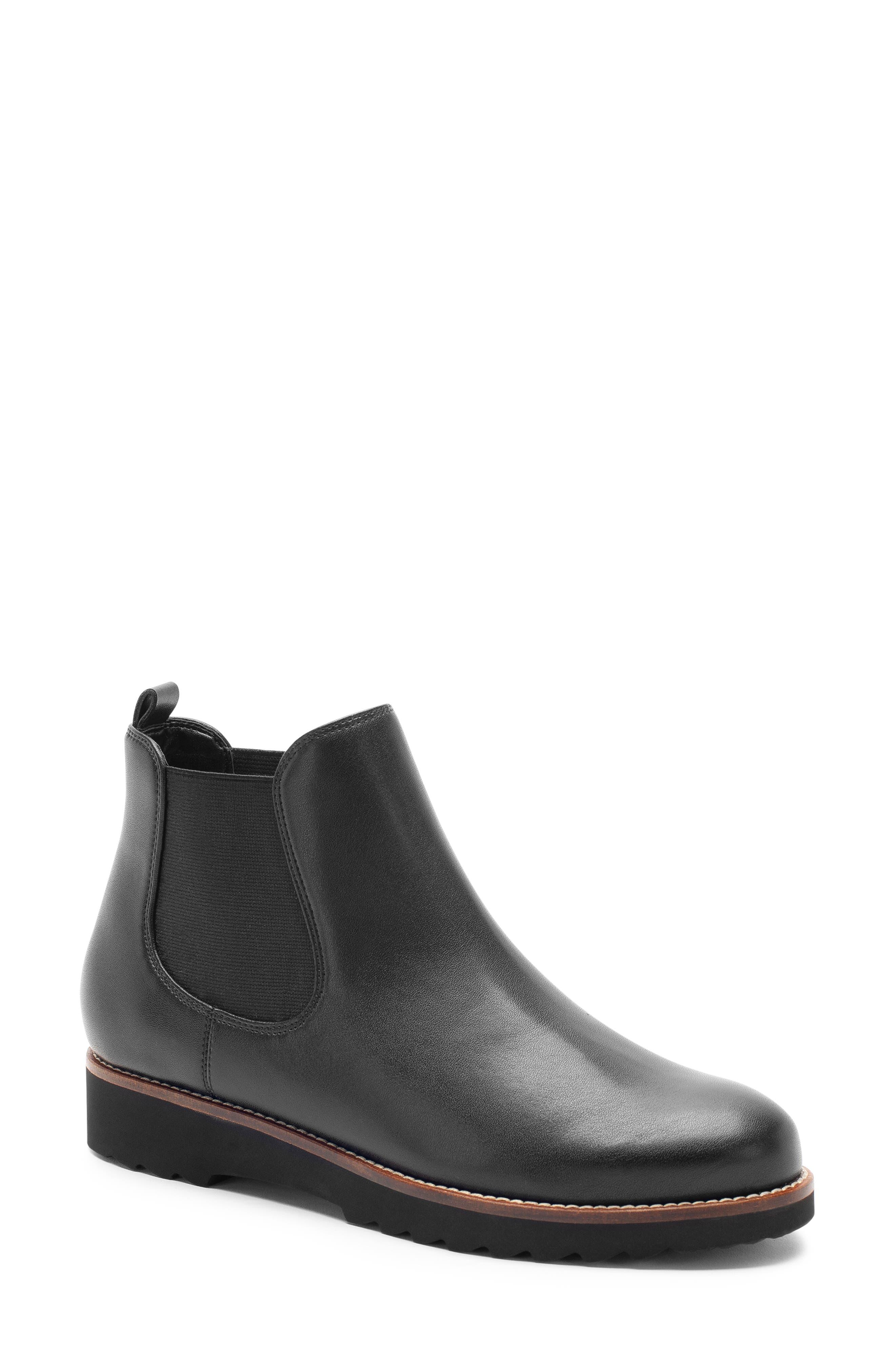 Roman Waterproof Bootie,                             Main thumbnail 1, color,                             Black Leather