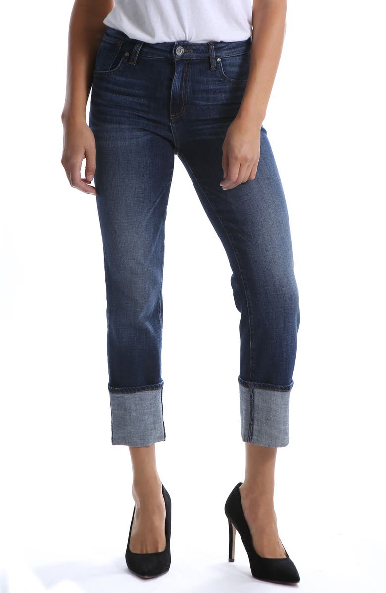 Roll-Up Straight Leg Jeans