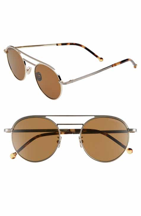 7beec7c2456 Cutler and Gross 50mm Polarized Round Sunglasses