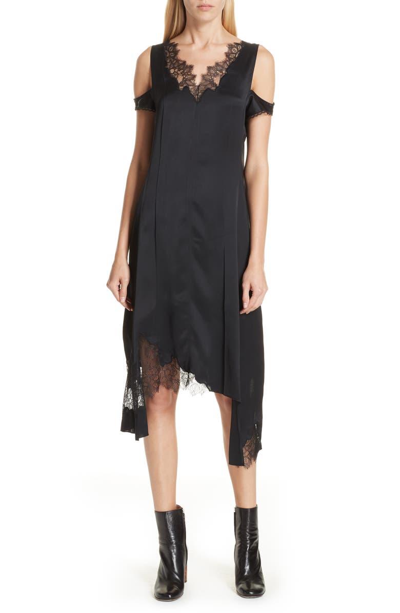Deconstructed Lace Trim Dress
