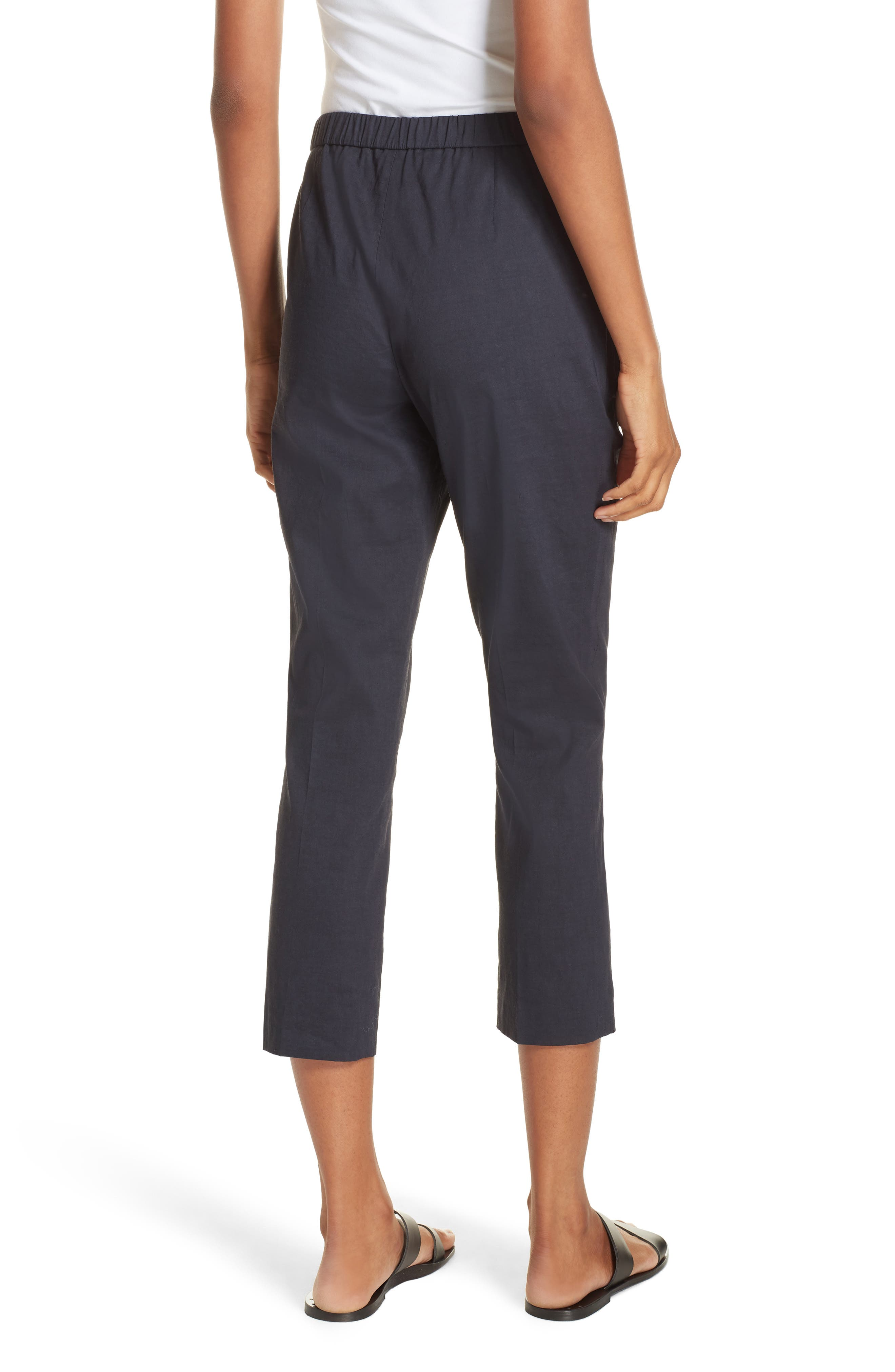 Pull-On Linen Blend Pants,                             Alternate thumbnail 2, color,                             Concord