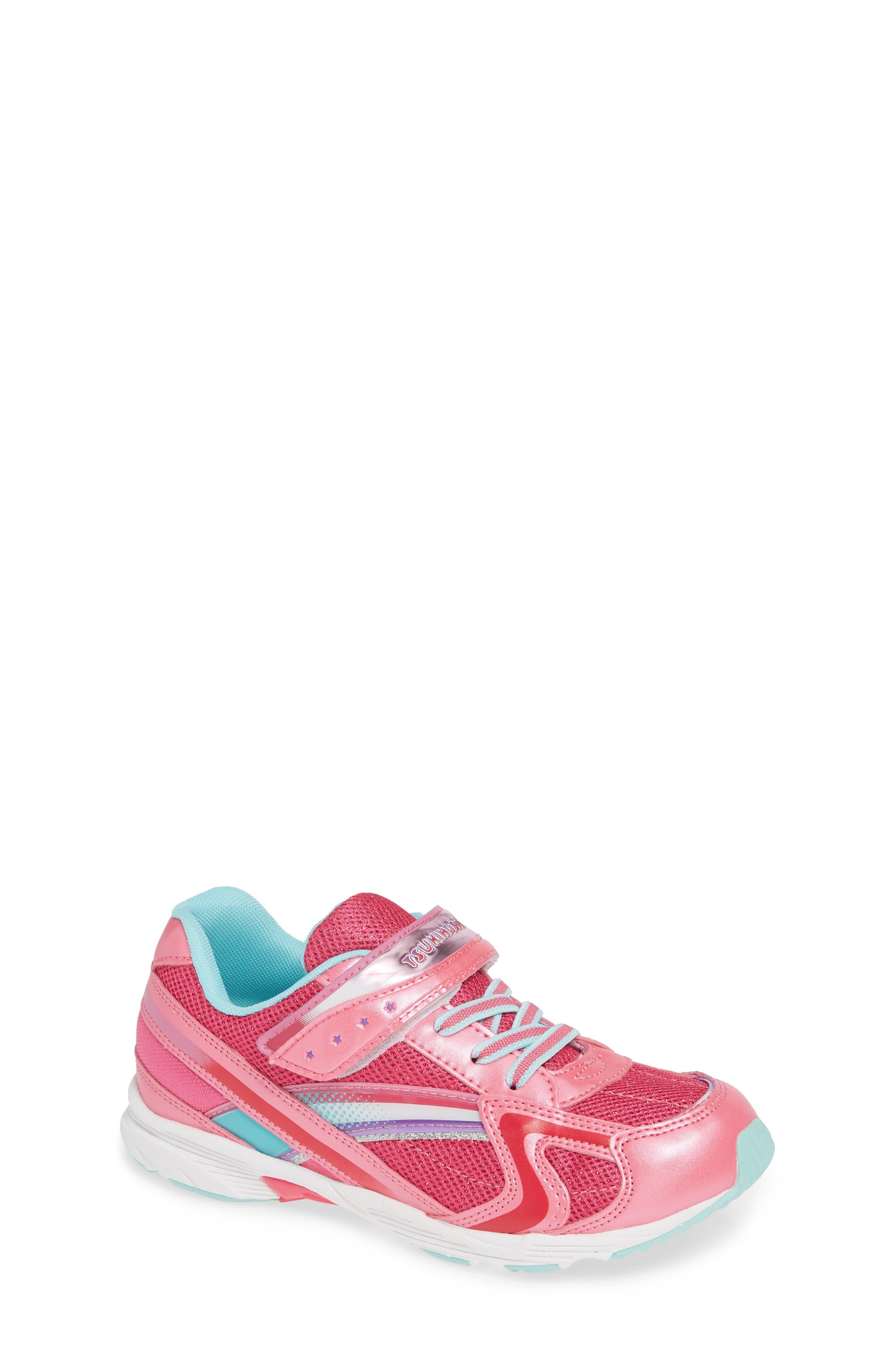 Glitz Washable Sneaker,                             Main thumbnail 1, color,                             Hot Pink/ Mint
