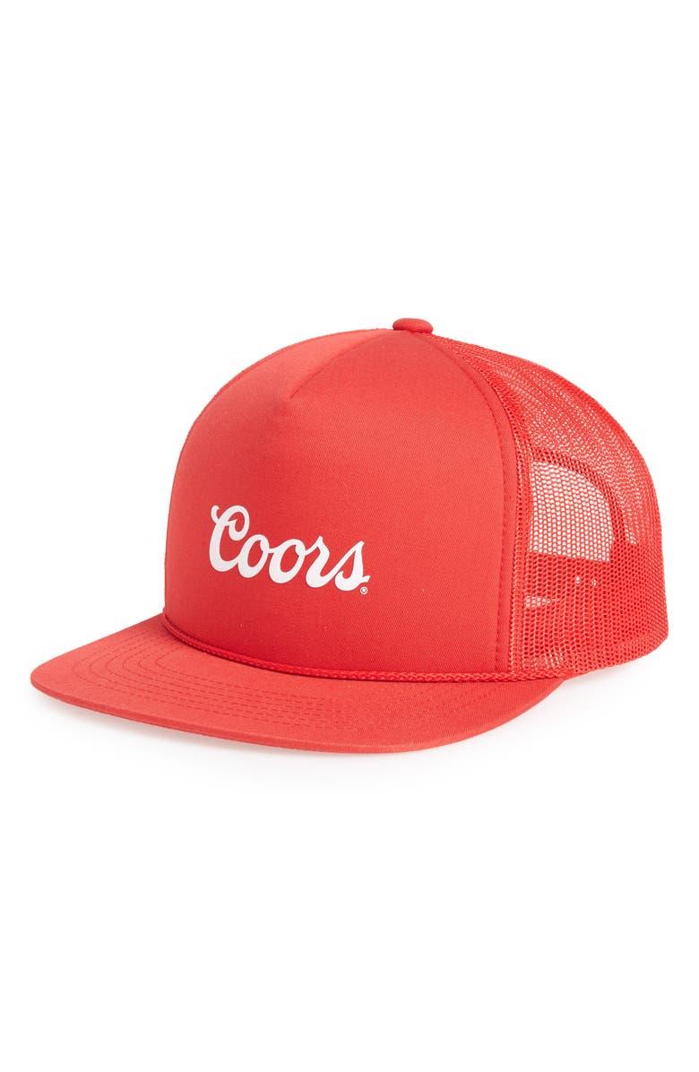 114e1b1f6e3 Brixton Coors Signature Trucker Hat - Red
