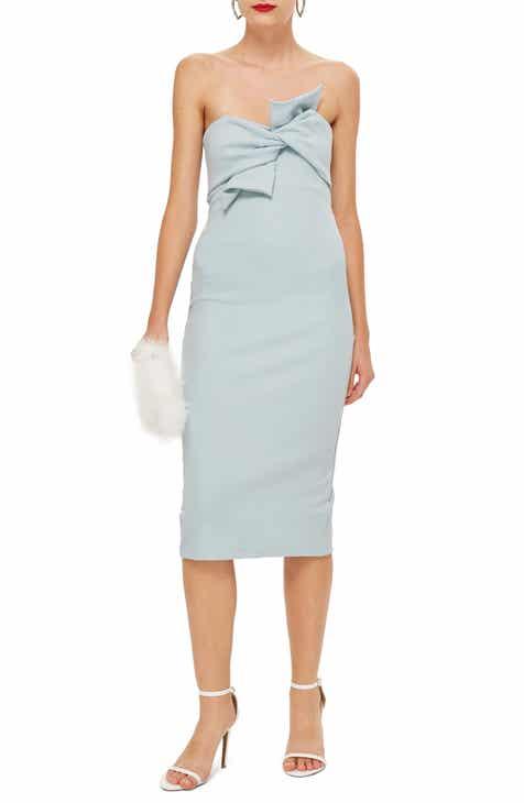 Topshop Womens Blue Dresses Nordstrom