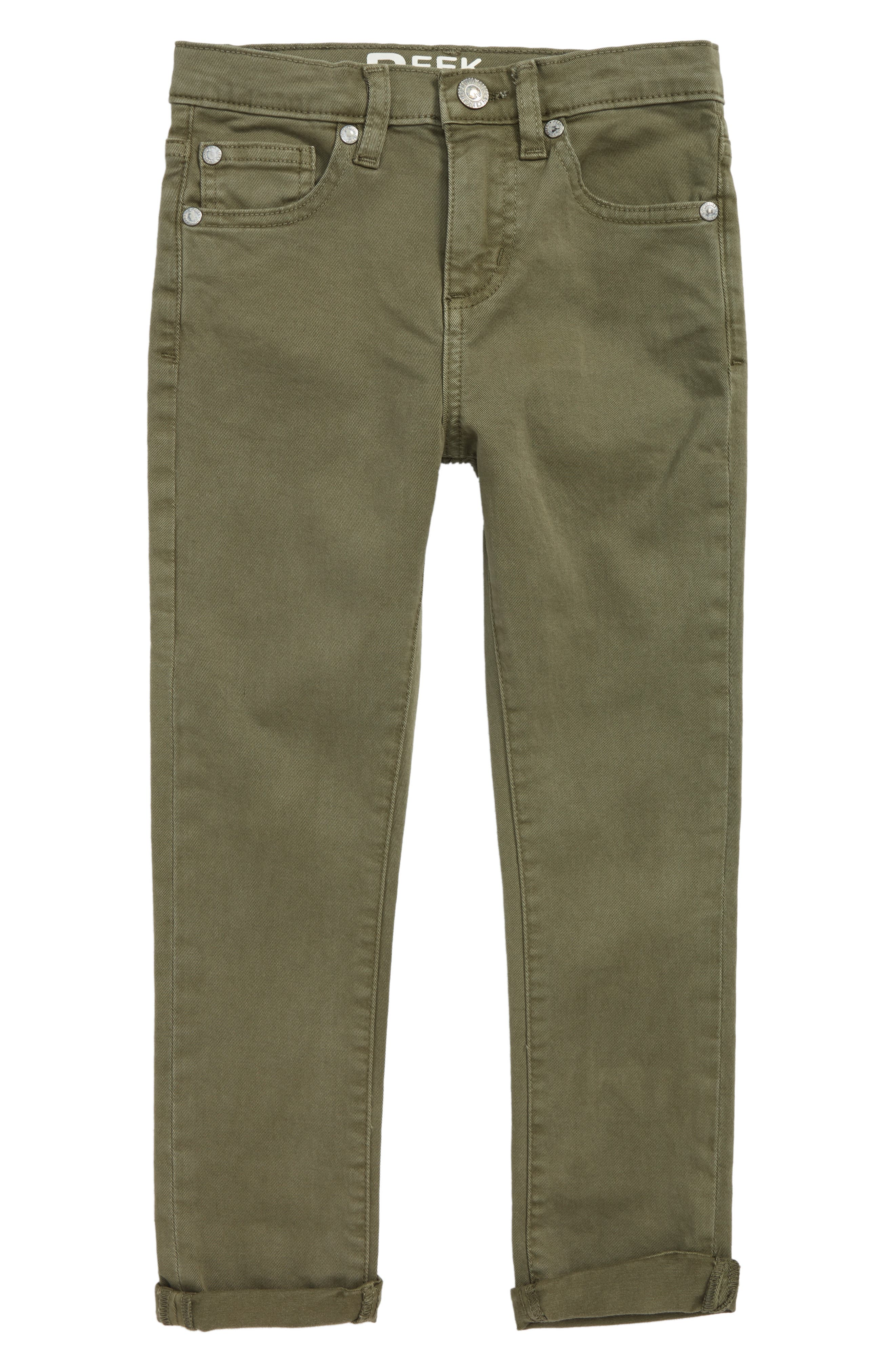 Slouch Twill Jeans,                         Main,                         color, Olive