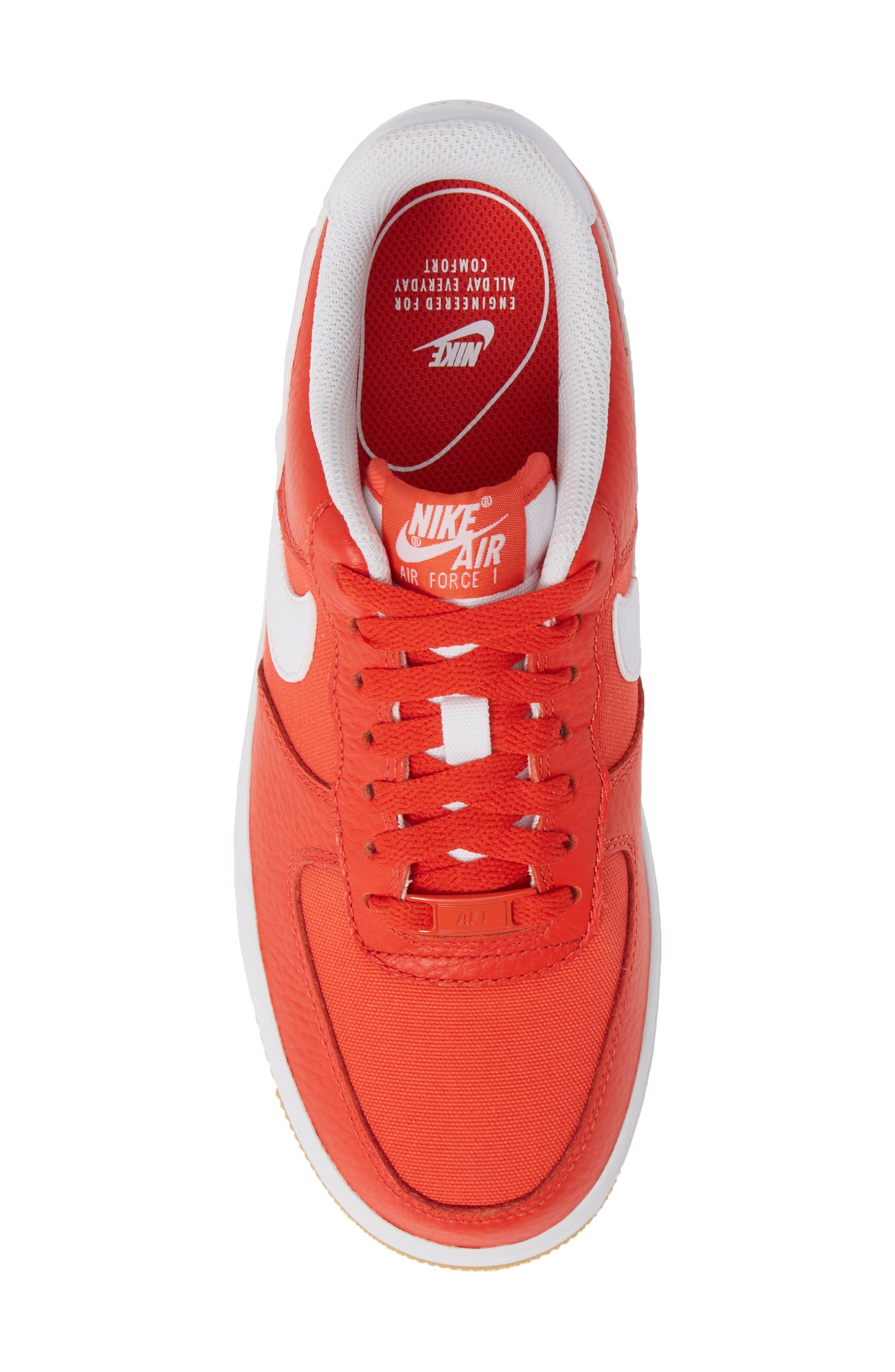 Air Force 1 '07 Premium Sneaker,                             Alternate thumbnail 5, color,                             Red/ White/ Light Brown