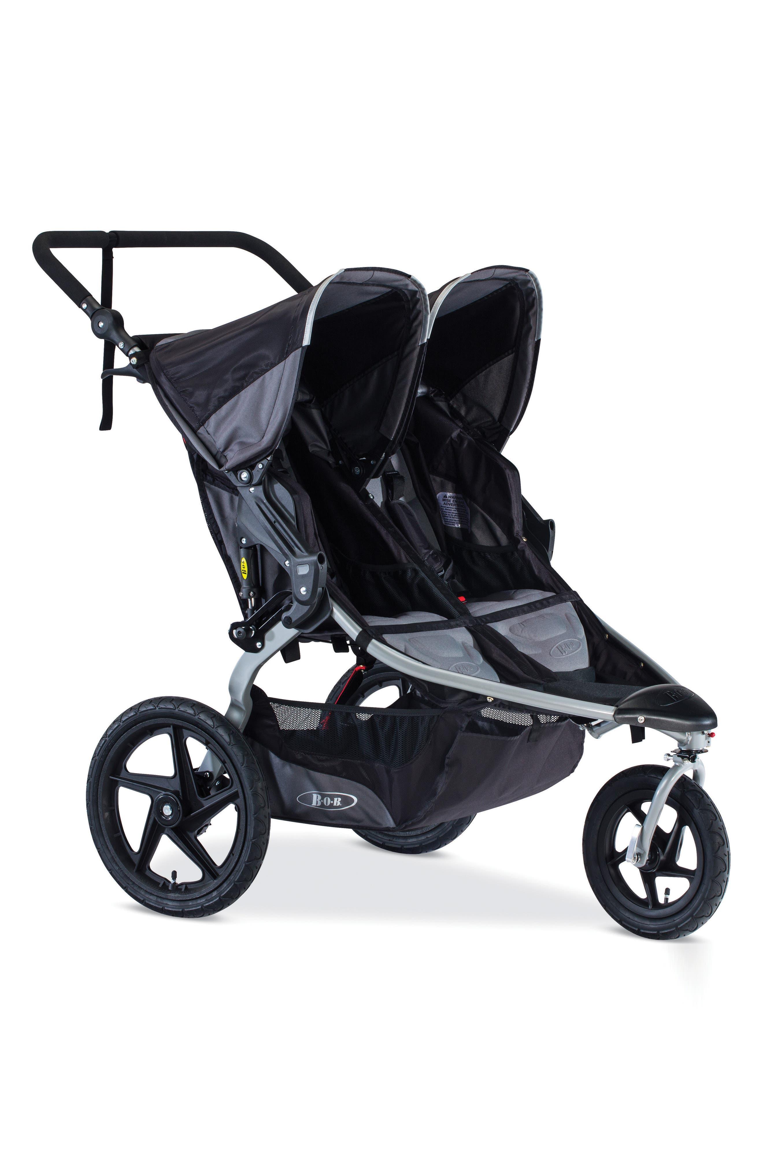 Revolution FLEX Duallie Double Fitness Stroller,                             Main thumbnail 1, color,                             Black
